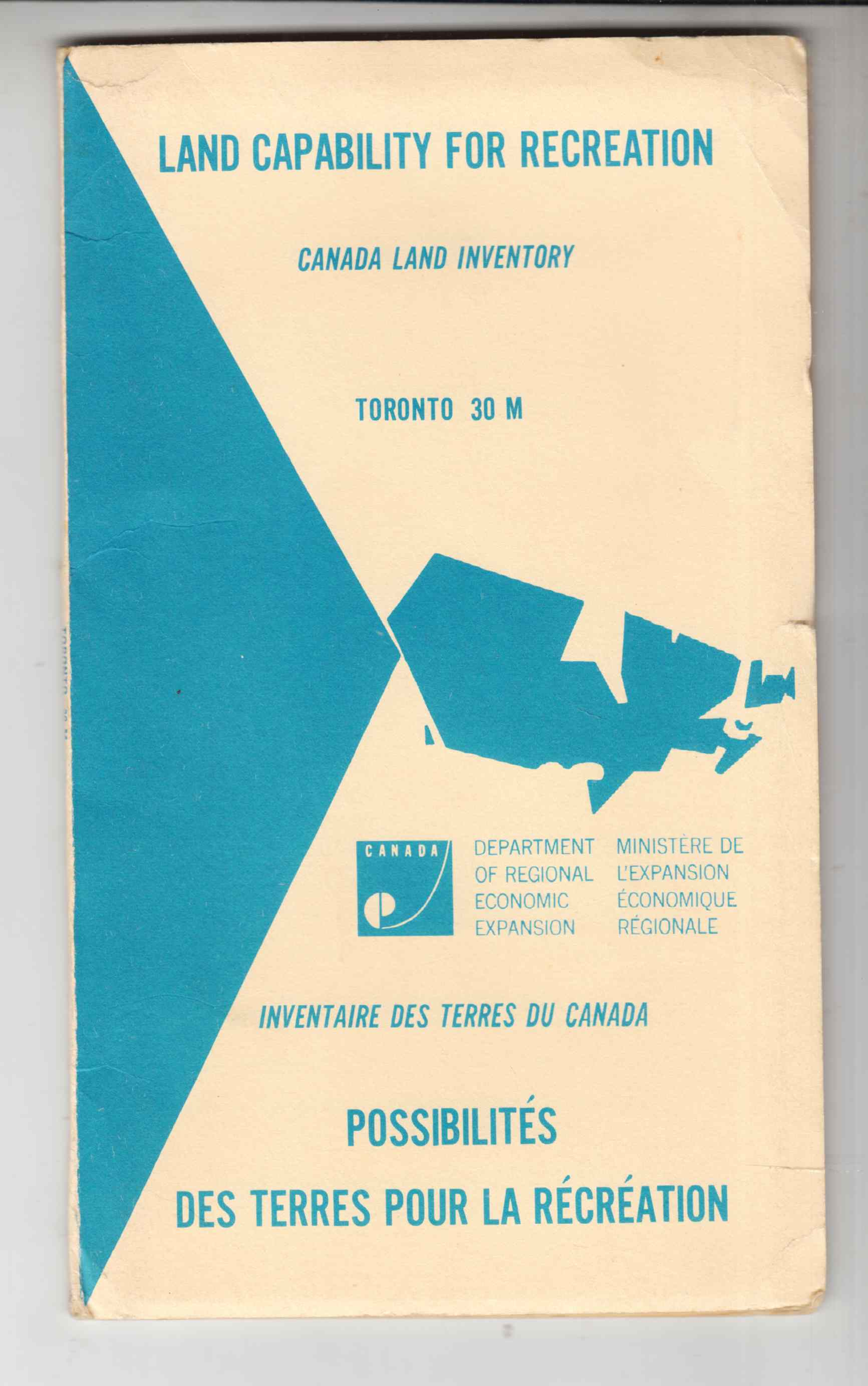 Image for Land Capability for Recreation - Canada Land Inventory Toronto 31 M