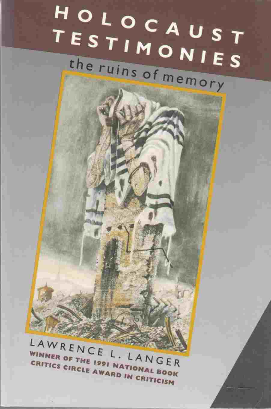 Image for Holocaust Testimonies The Ruins of Memory