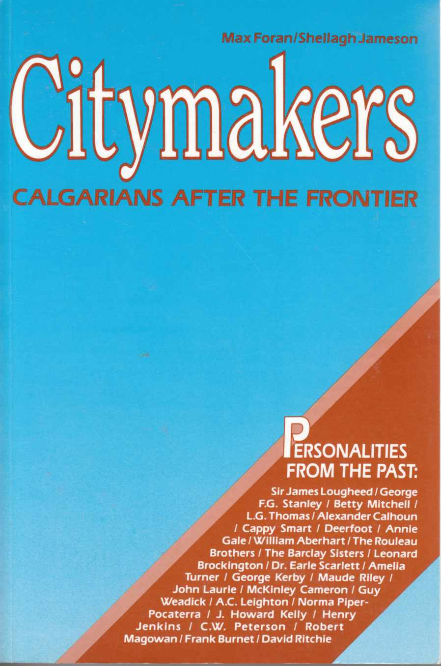 Image for Citymakers Calgarians after the Frontier