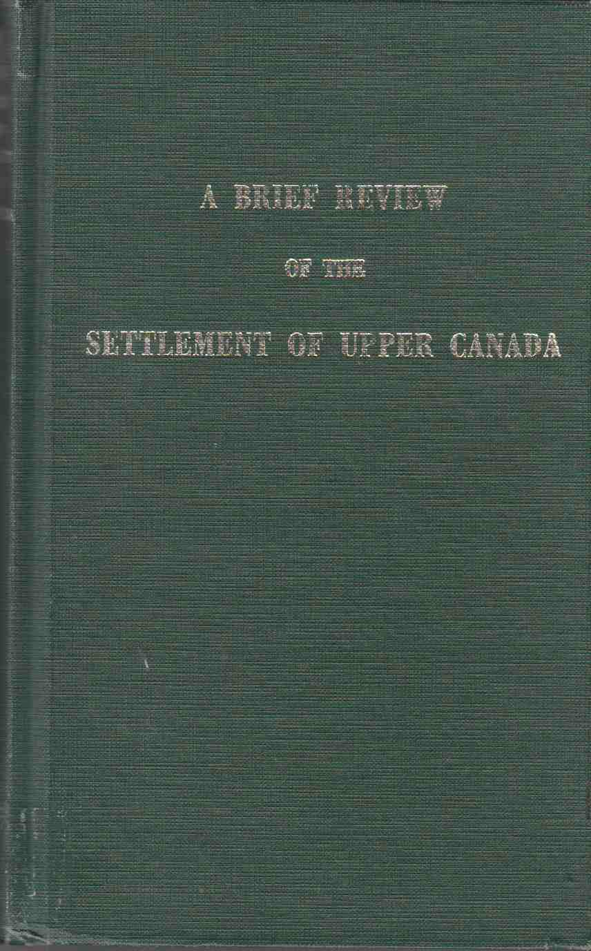 Image for A Brief Review of the Settlement of Upper Canada