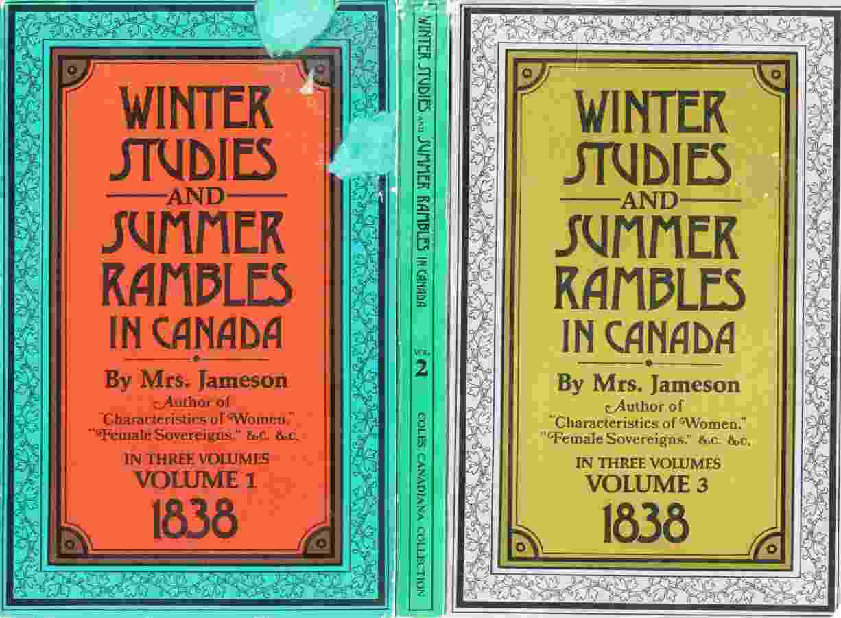 Image for Winter Studies and Summer Rambles in Canada (Three Volumes)
