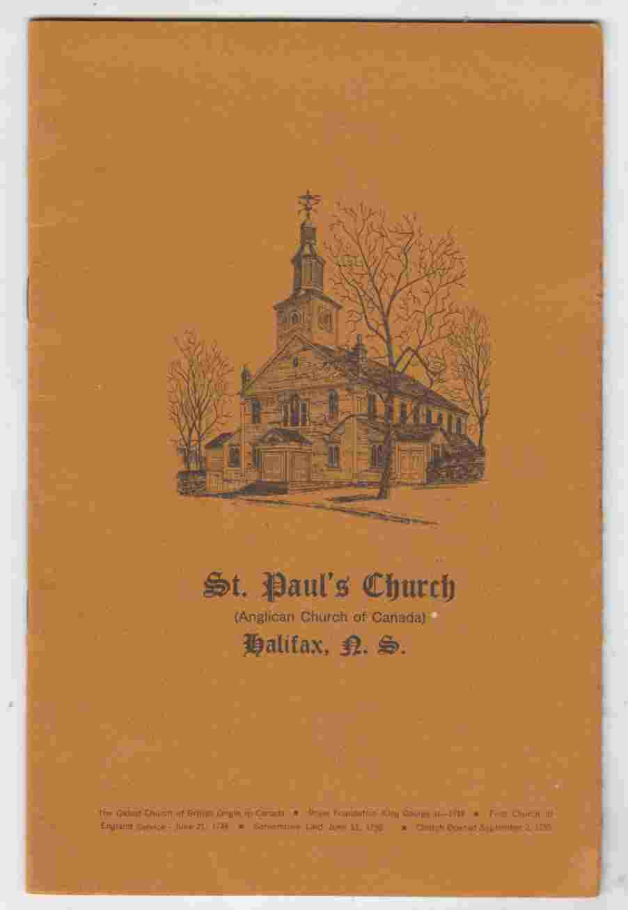 Image for St. Paul's Church (Anglican Church of Canada) Halifax, N. S.