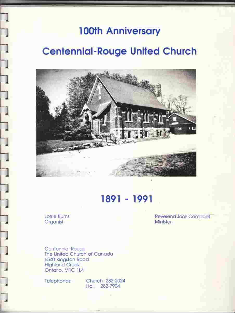 Image for 100th Anniversary Centennial-Rouge United Church 1891-1991