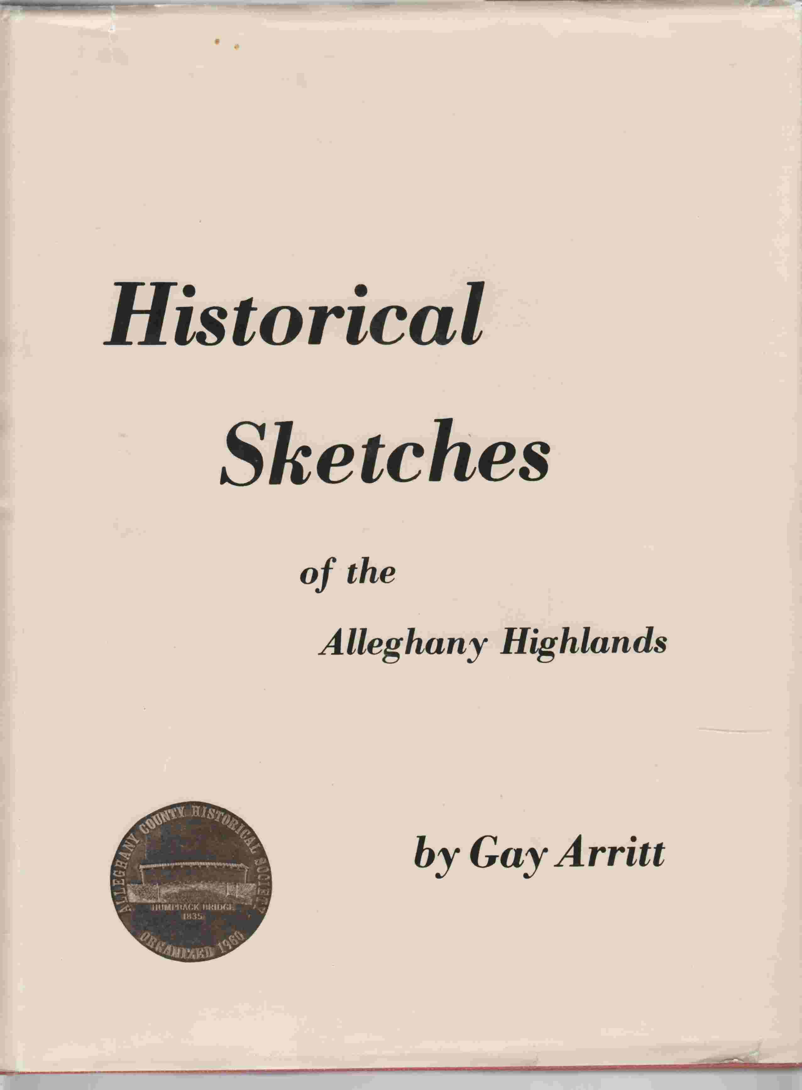 Image for Historical Sketches of the Alleghany Highlands