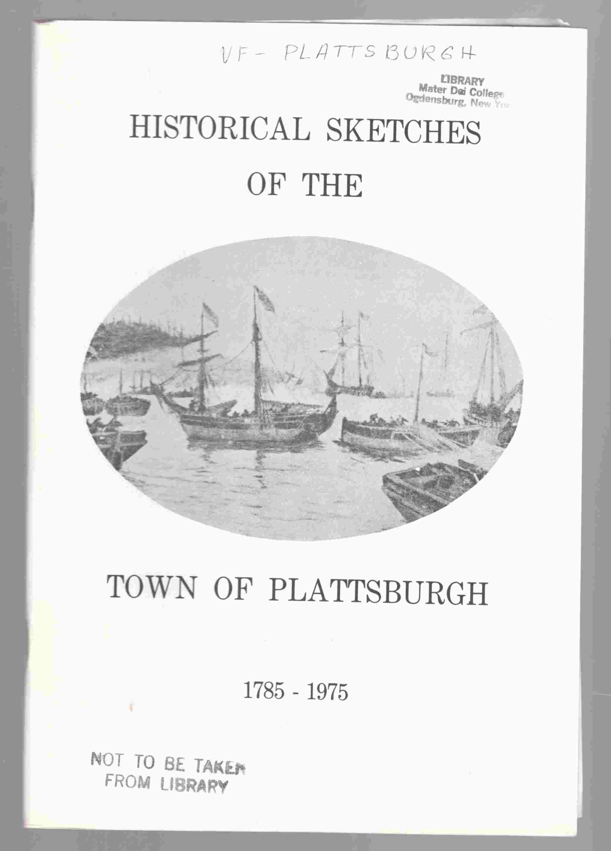 Image for Historical Sketches of the Town of Plattsburgh 1785-1975