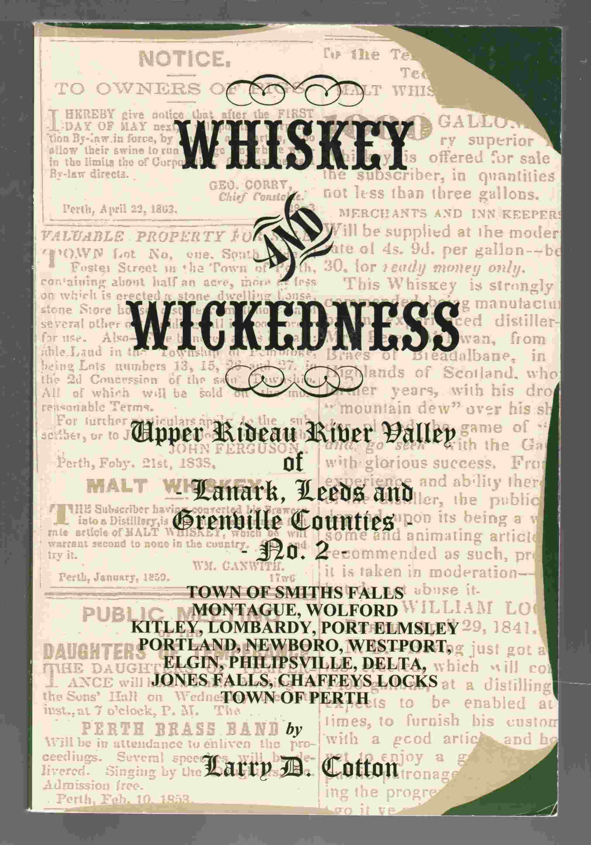 Image for Whiskey and Wickedness: Upper Rideau River Valley of Lanark, Leeds and Grenville Counties - No. 2