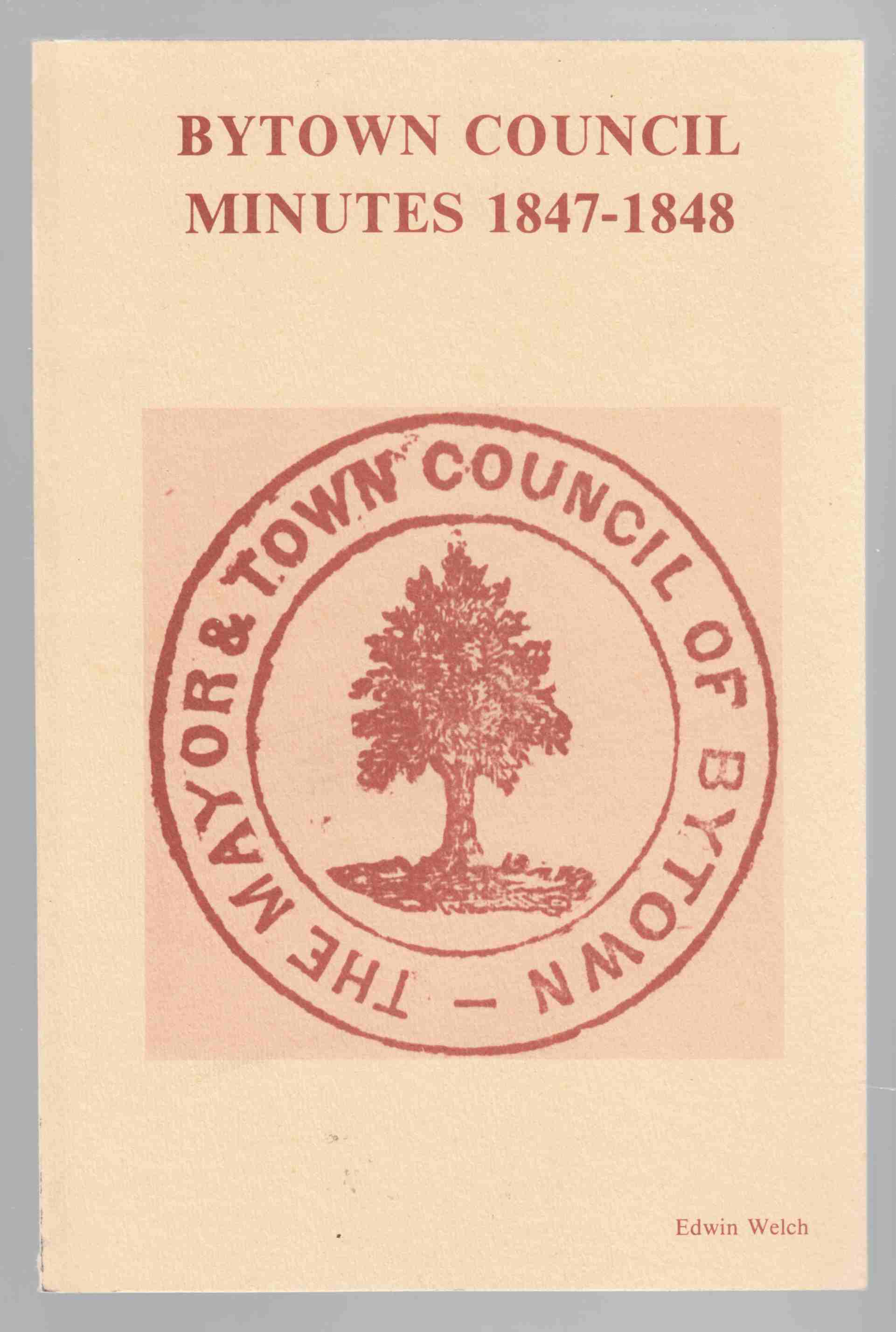 Image for Bytown Council Minutes 1847-1848
