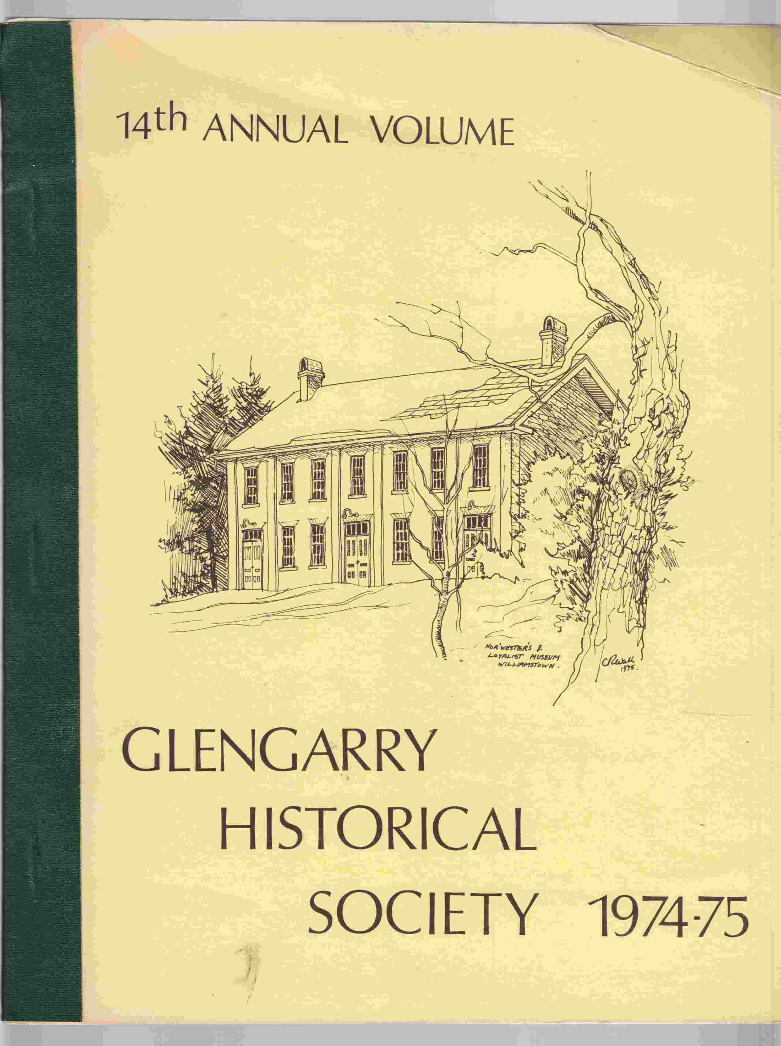Image for Glengarry Historical Society 1974-75