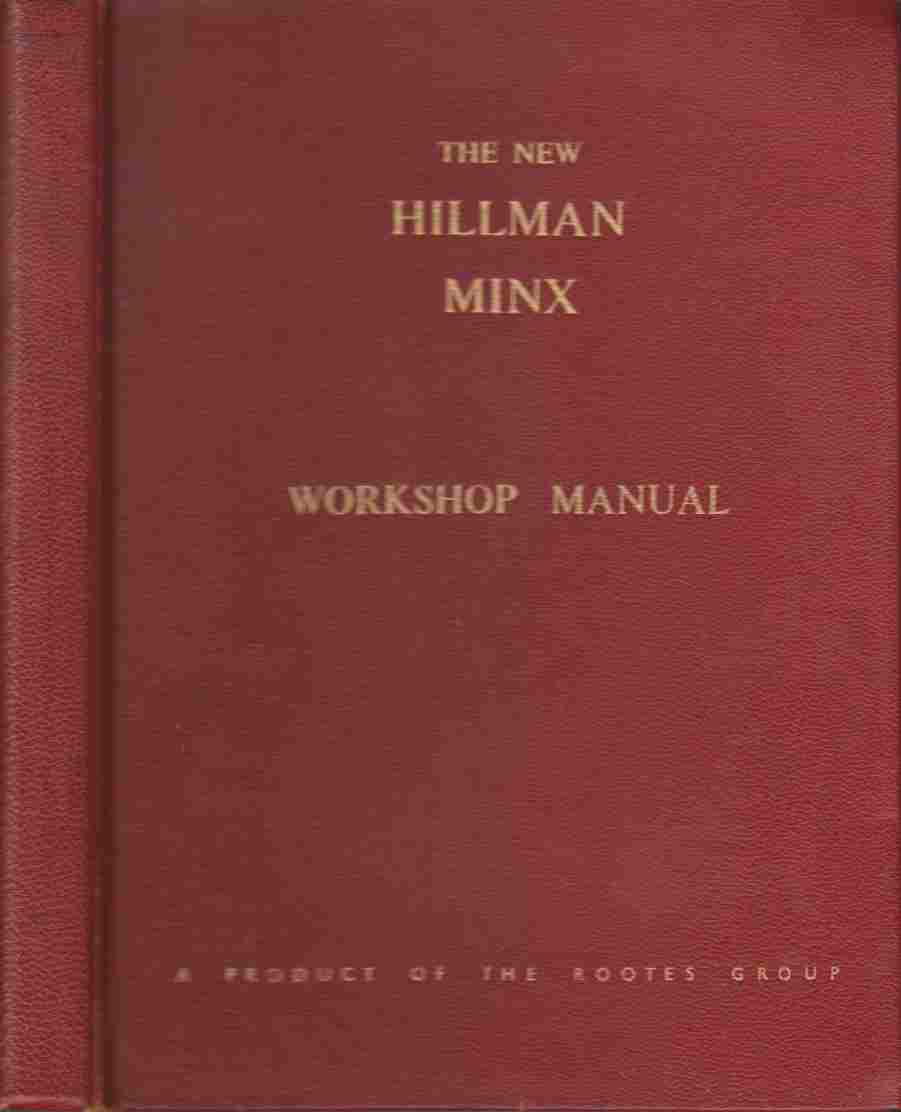 Image for The New Hillman Minx Workshop Manual
