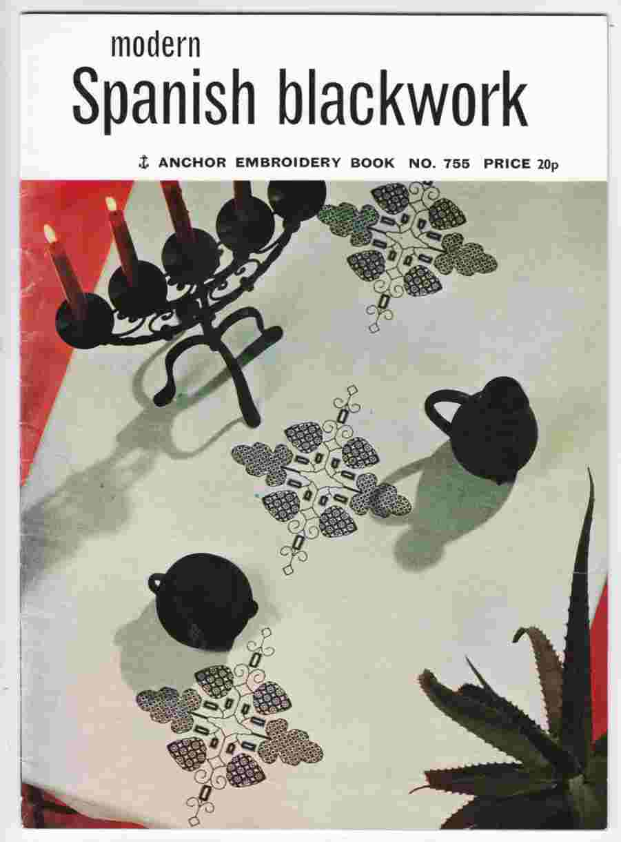 Image for Modern Spanish Black Work Anchor Embroidery Book No. 755