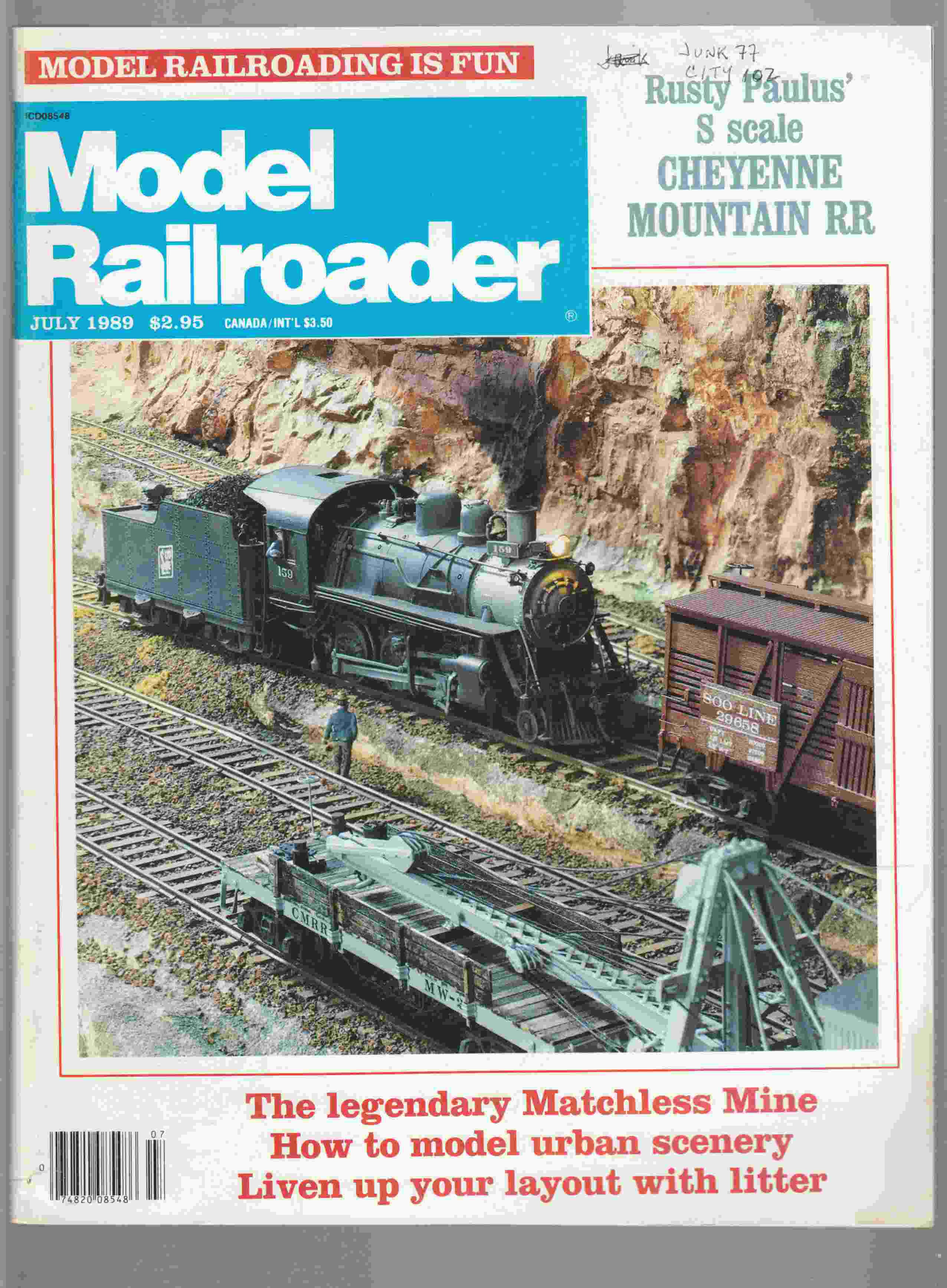 Image for Model Railroader July 1989 Volume 56 Number 7