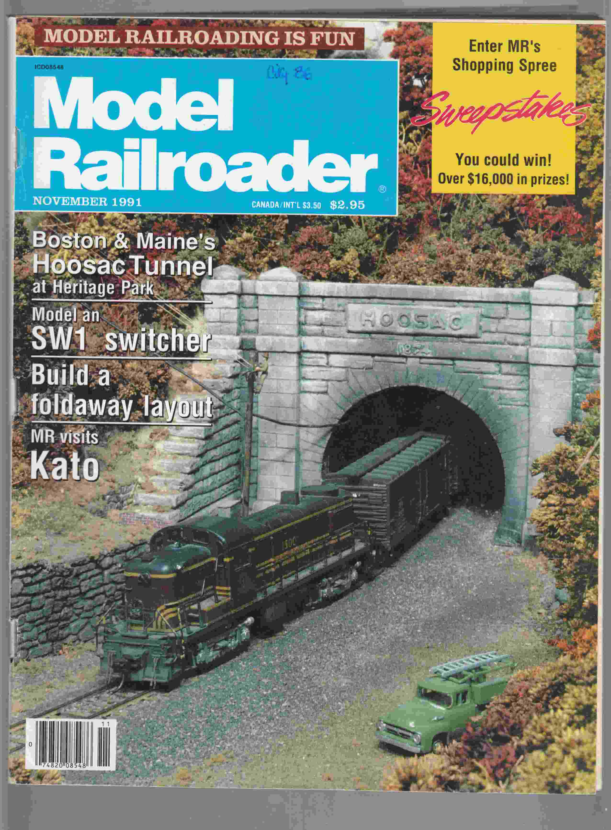 Image for Model Railroader November 1991 Volume 58 Number 11