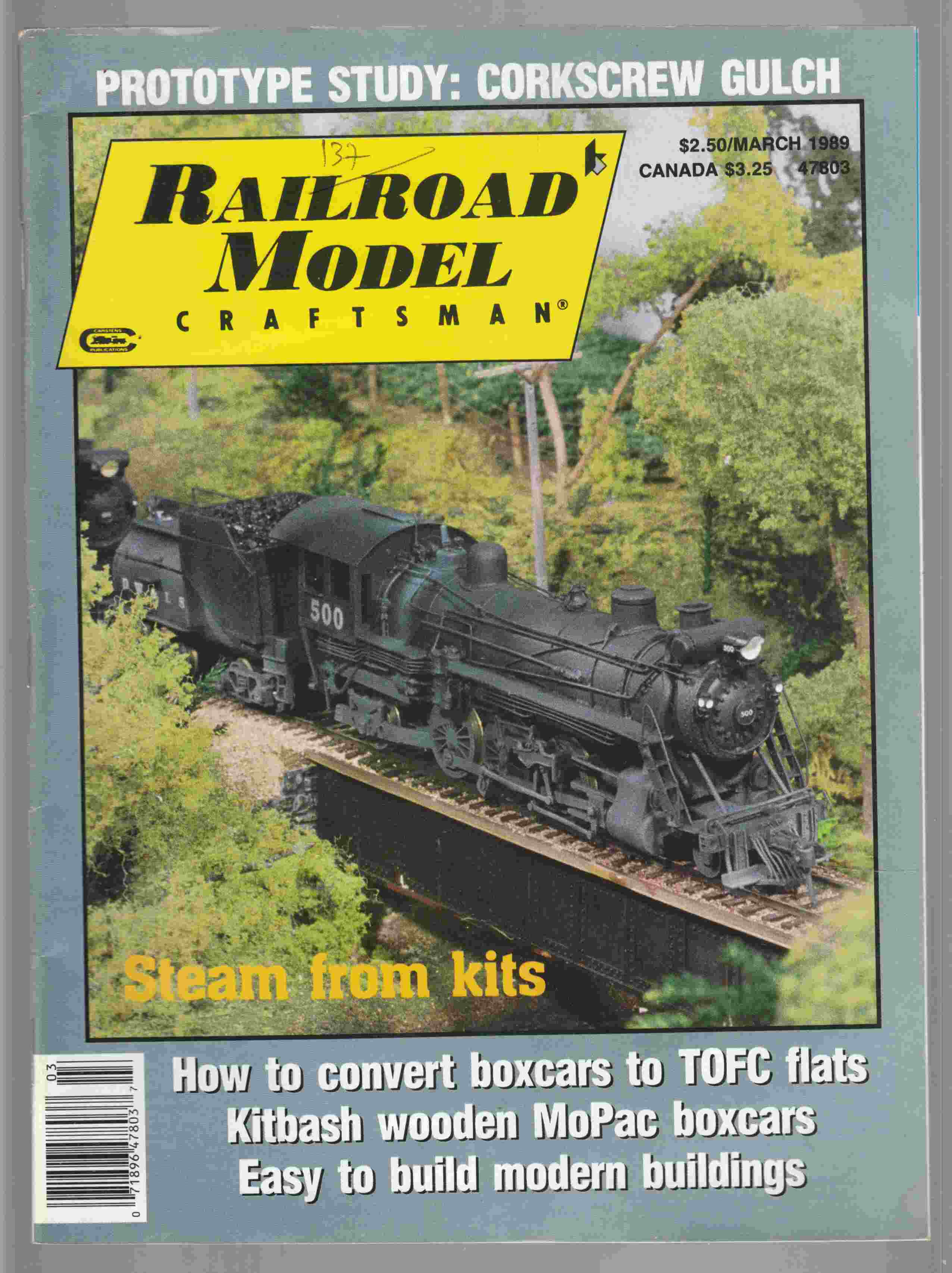 Image for Model Railroad Craftsman March 1989 Volume 57 Number 10