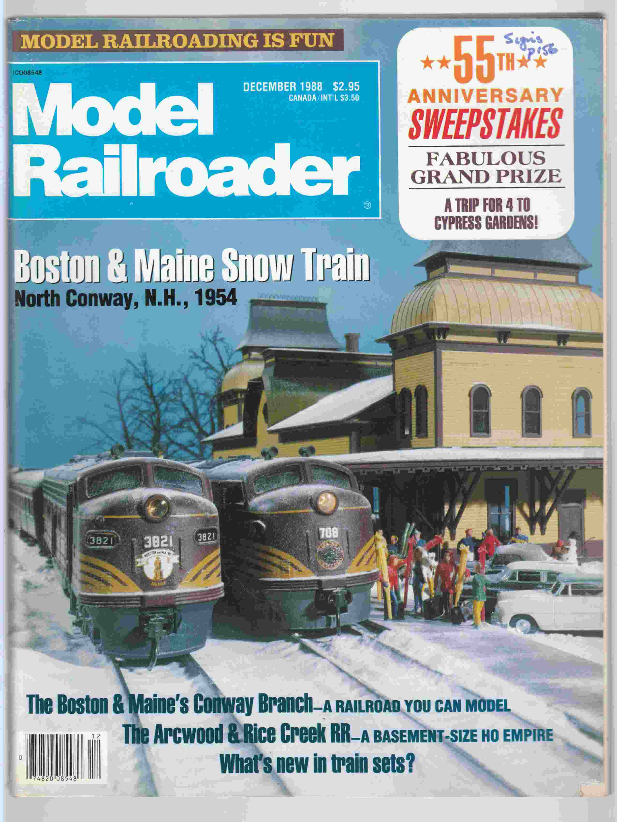 Image for Model Railroader December 1988 Volume 55 Number 12