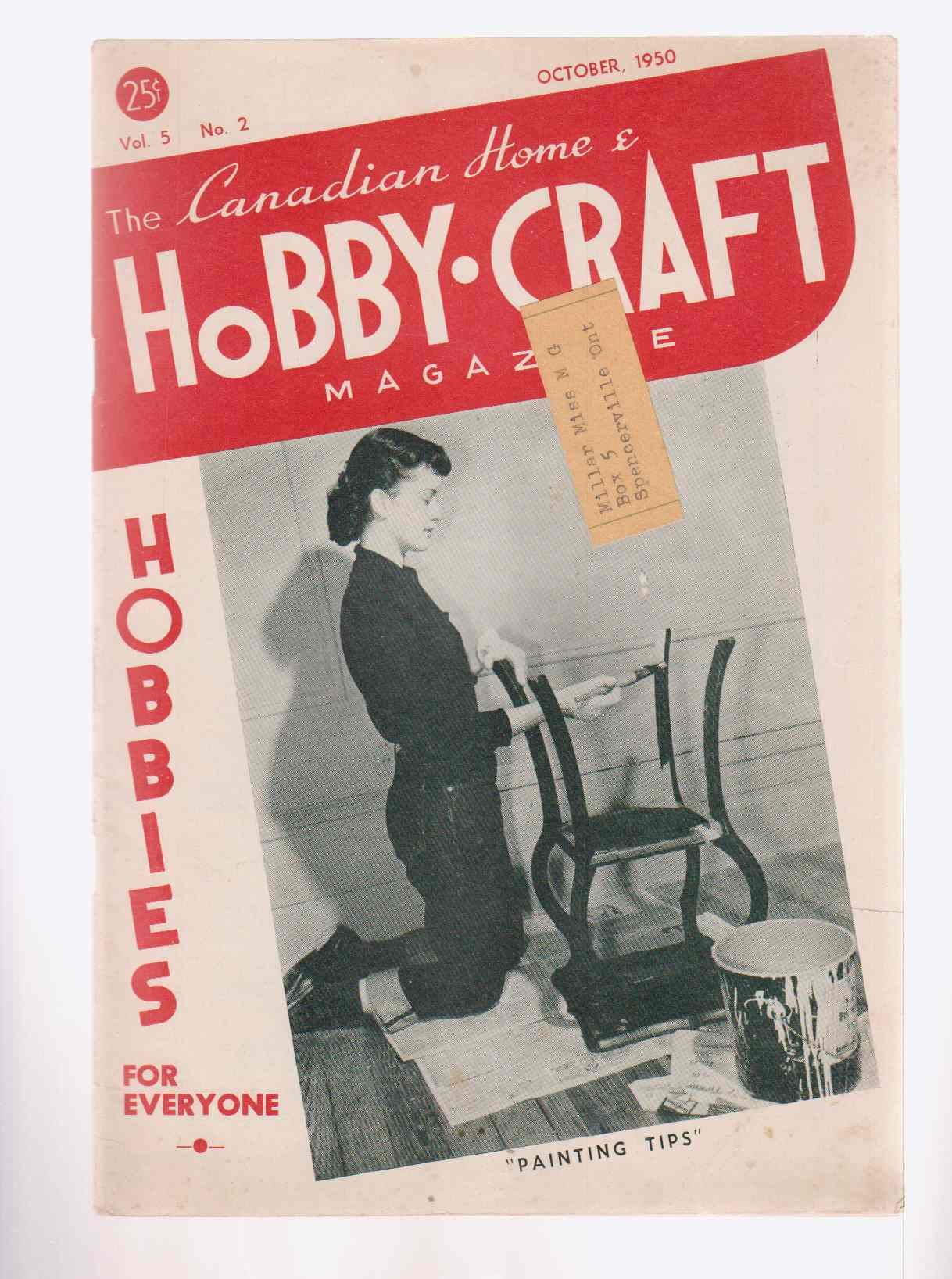 Image for The Canadian Home and Hobby-Craft Magazine September - October 1950 Vol. 5 No. 2