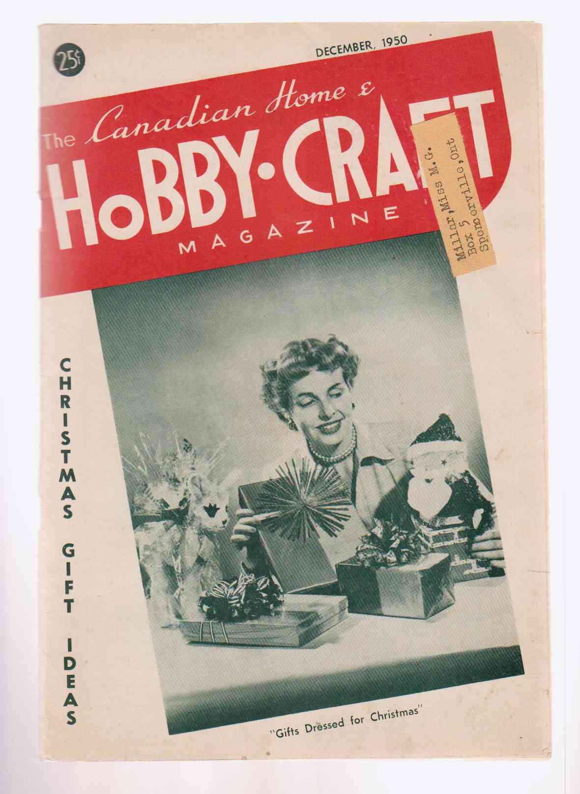Image for The Canadian Home and Hobby-Craft Magazine December 1950 Vol. 5 No. 3