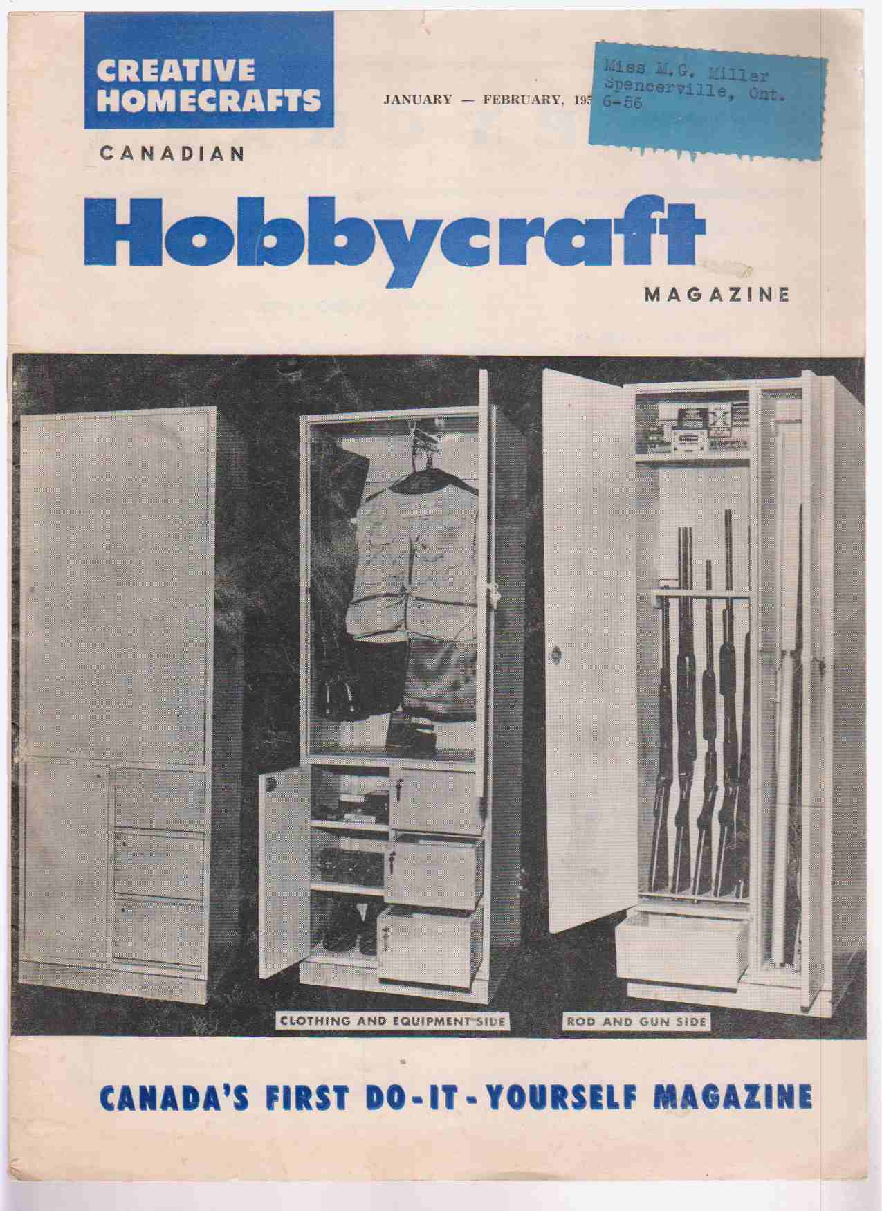 Image for Canadian Hobbycraft Magazine January - February 1956 Volume 11 Number 1