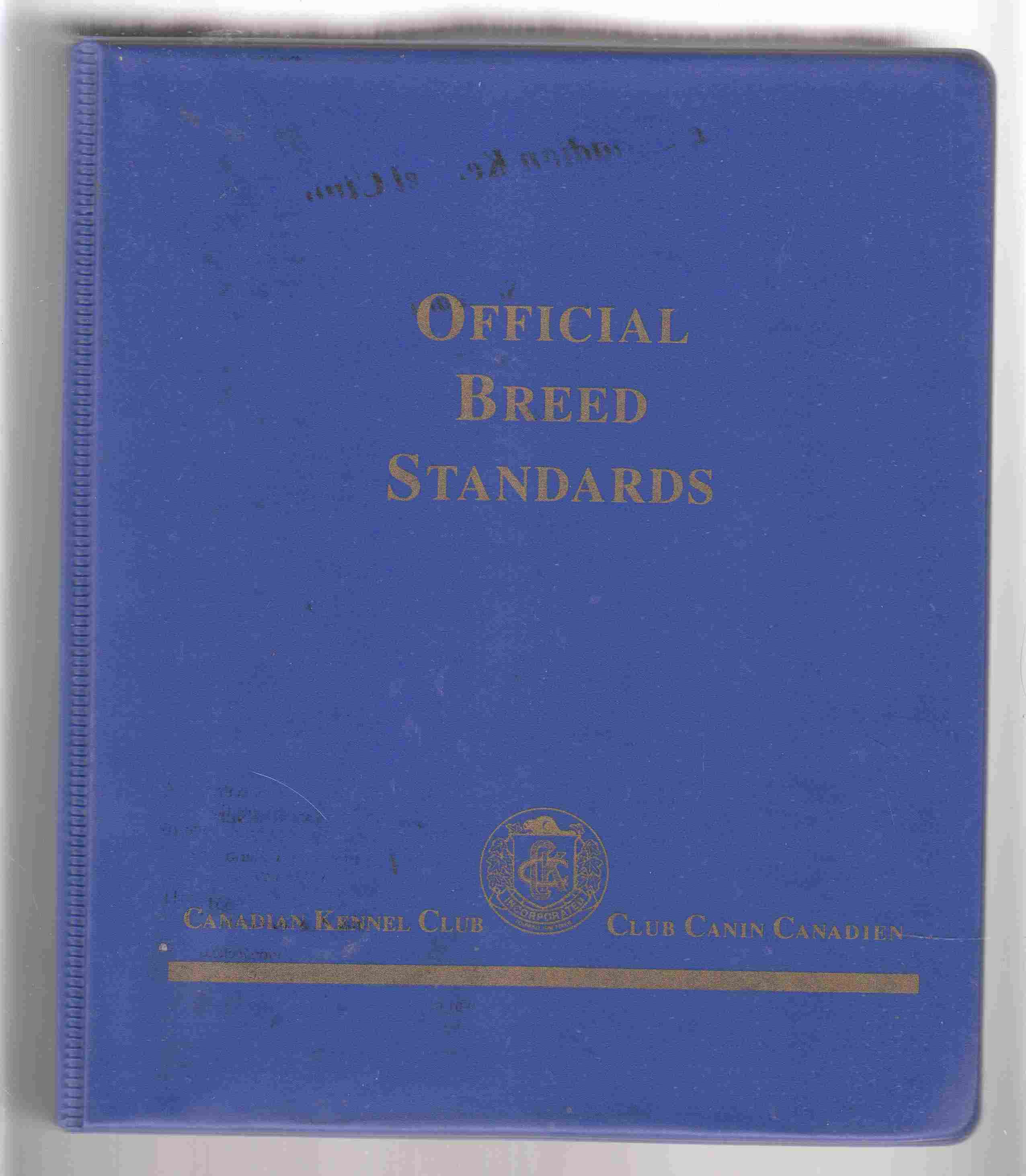 Image for Official Breed Standards