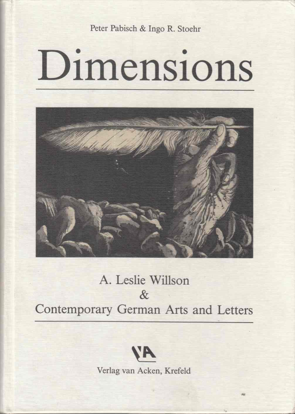 Image for Dimensions A. Leslie Willson & Contemporary German Arts and Letters