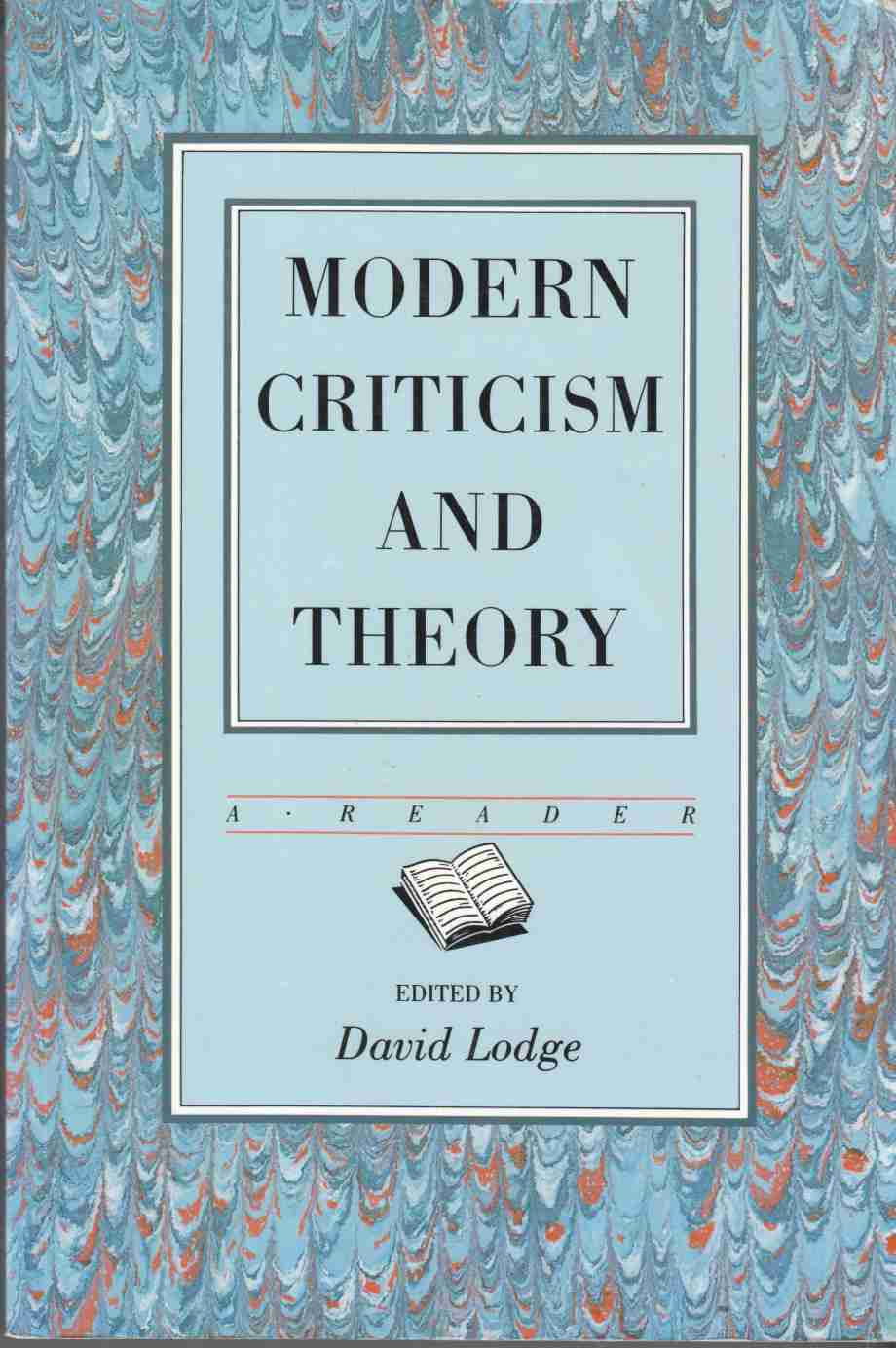 Image for Modern Criticism and Theory A Reader