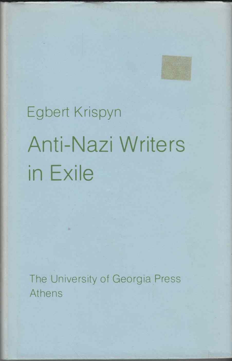 Image for Anti-Nazi Writers in Exile