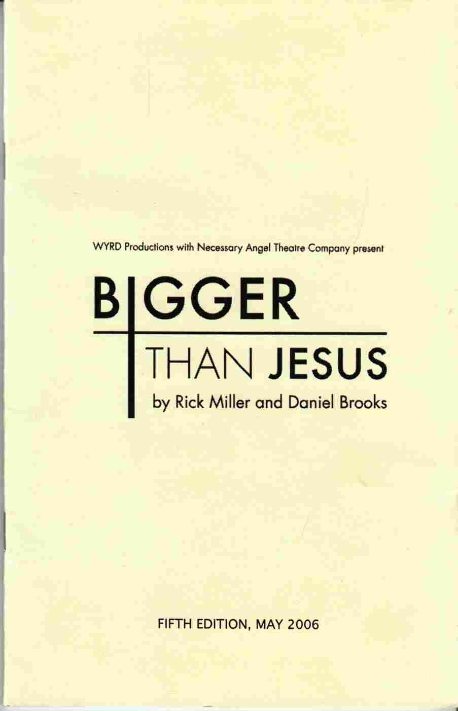 Image for Bigger Than Jesus
