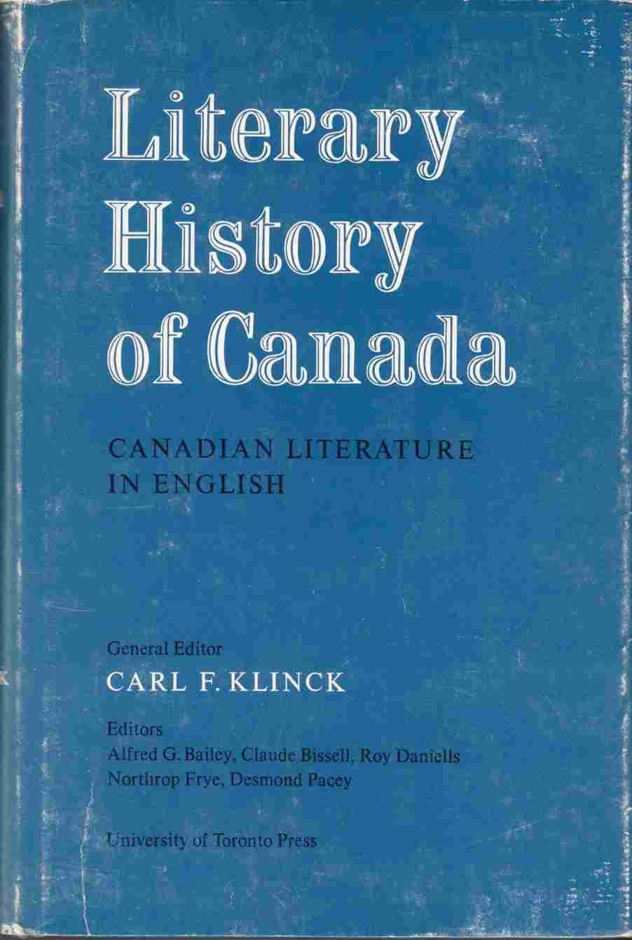 Image for Literary History of Canada:  Canadian Literature in English