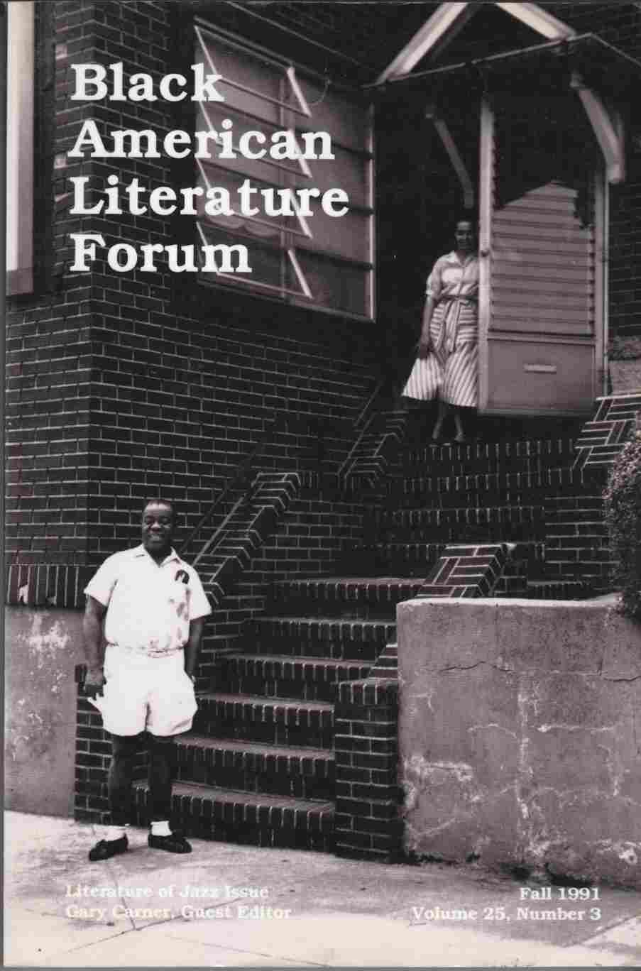 Image for Black American Literature Forum, Volume 25, Number 3:  Literature of Jazz Issue