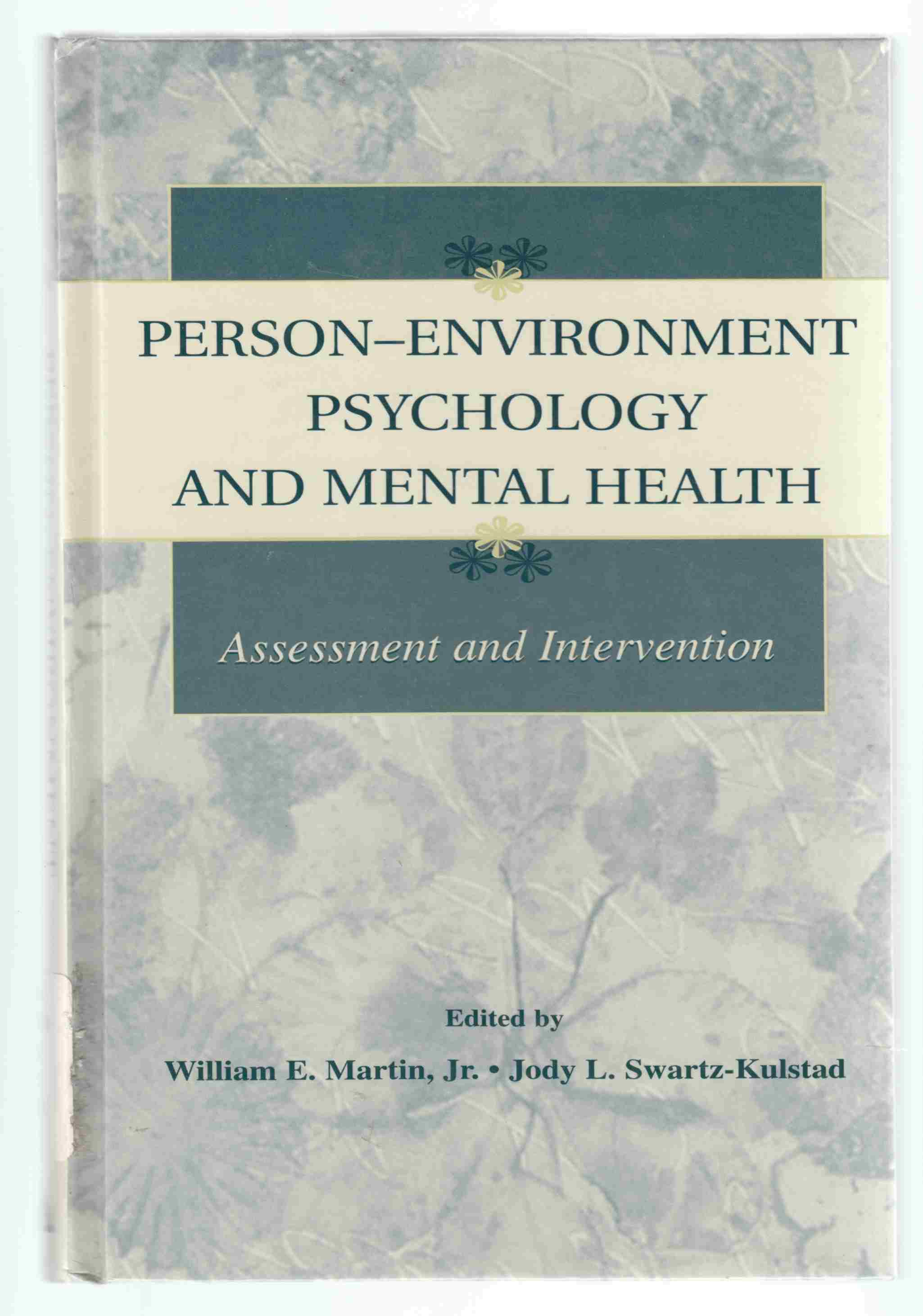 Image for Person-Environnment Psychology and Mental Health Assessment and Intervention