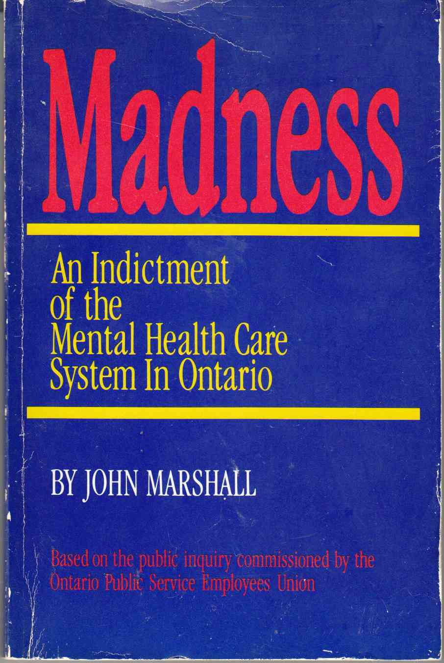 Image for Madness An Indictment of the Mental Health Care System in Ontario
