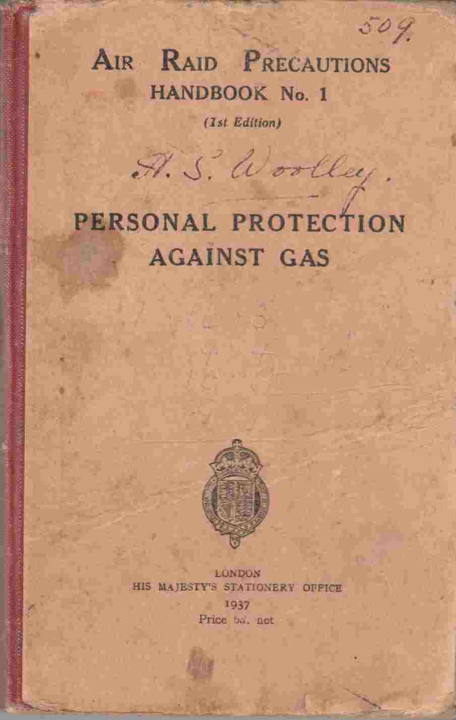 Image for Air Raid Precautions Handbook No. 1: Personal Protection Against Gas (1st Edition)
