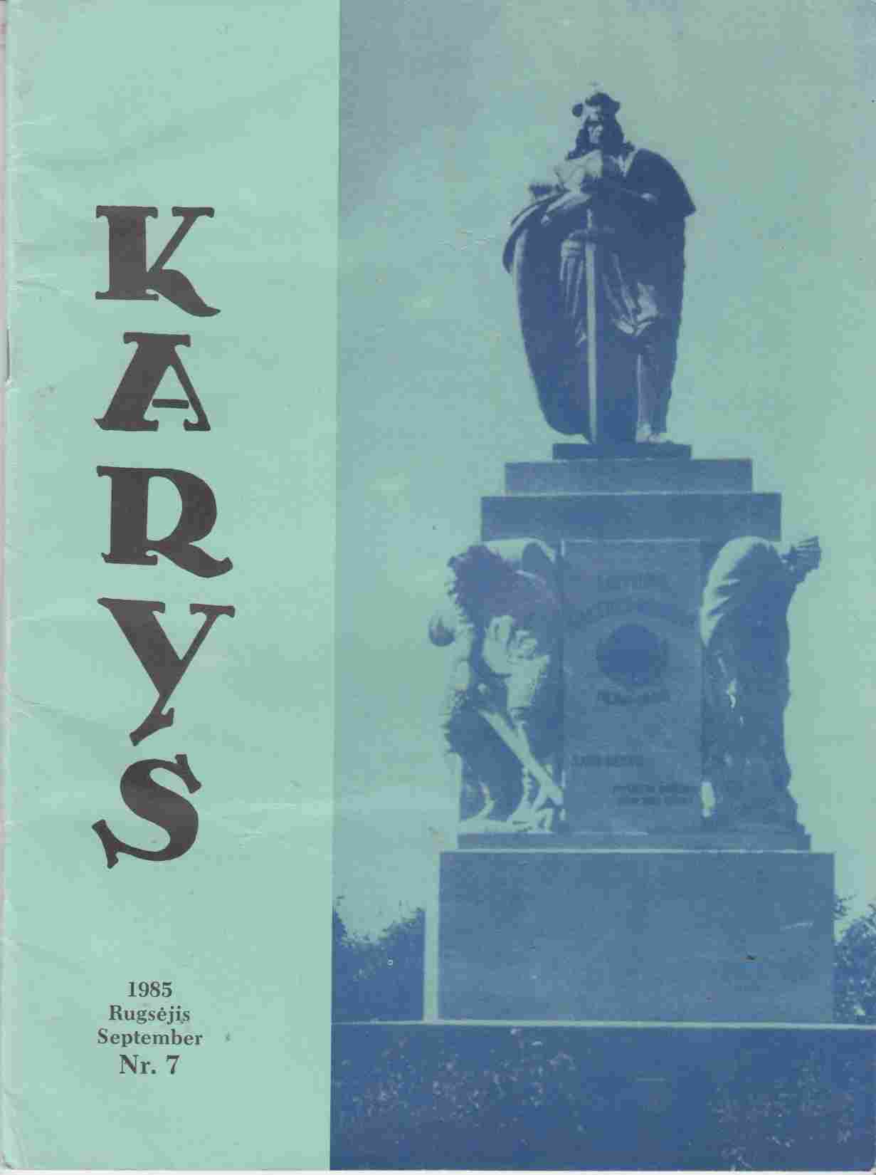 Image for Karys 1985 Rugsejis September Nr. 7