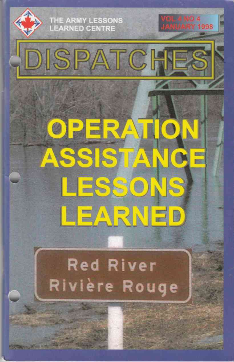 Image for Operation Assistance Lessons Learned / Lecons Retenues De L'Operation Assistance Dispatches Vol 4 No 4 January 1998