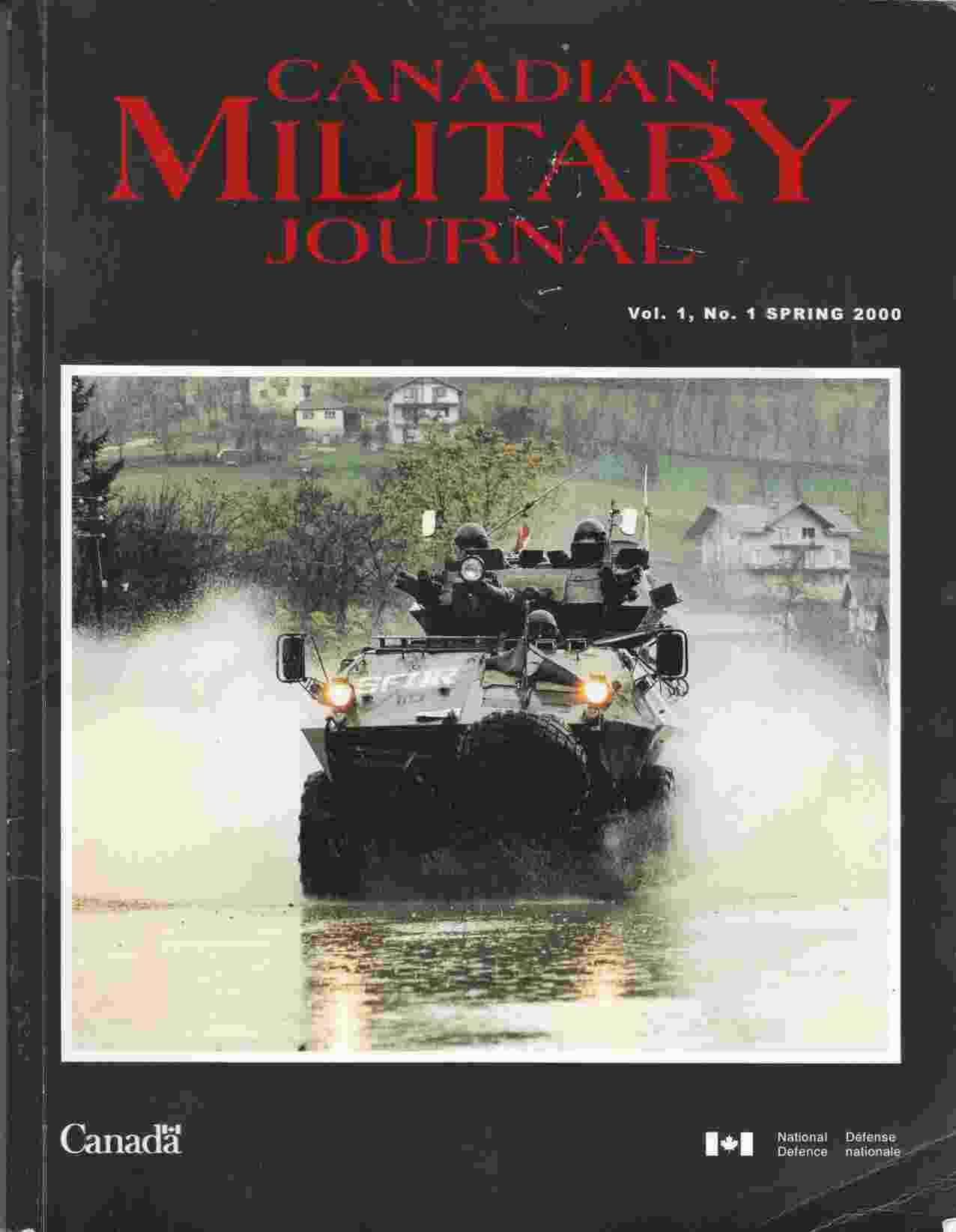 Image for Canadian Military Journal / Revue Militaire Canadienne Vol. 1, No. 1 Spring / Printemps 2000