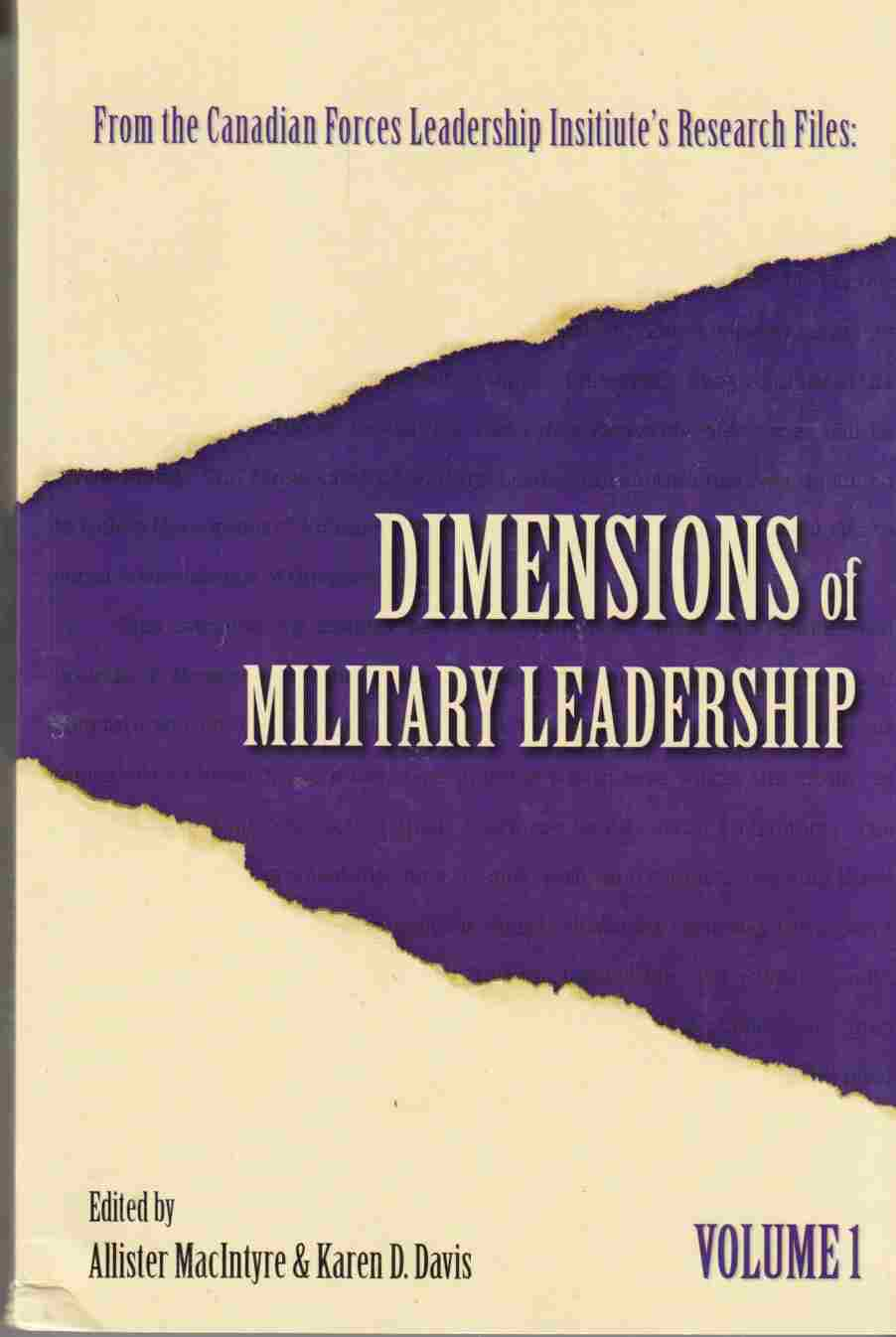 Image for Dimensions of Military Leadership