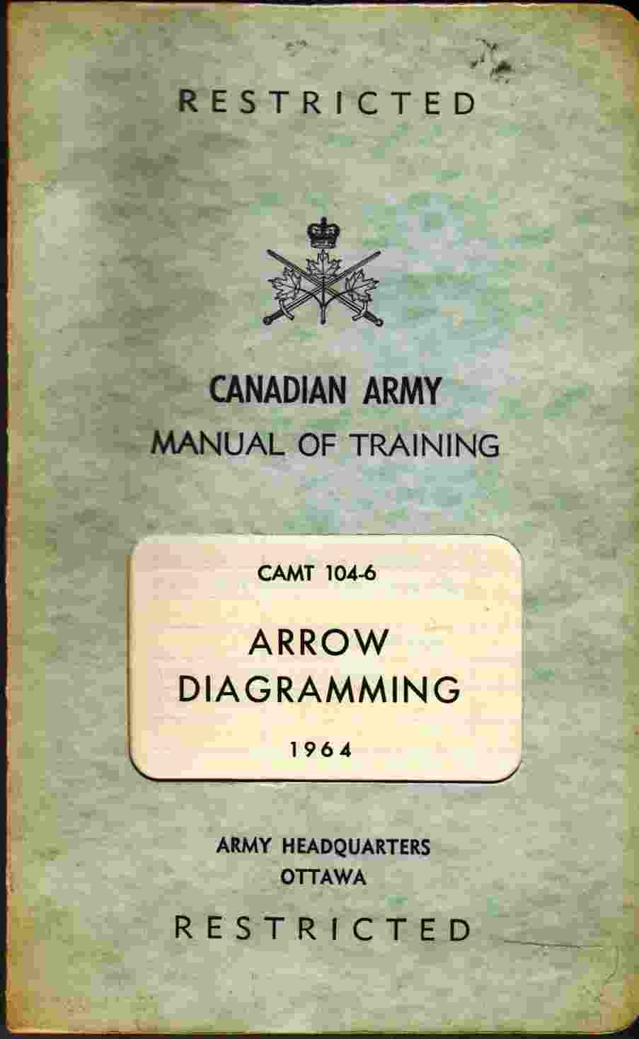 Image for Canadian Army Manual of Training: Arrow Diagramming CAMT 104-6 1964