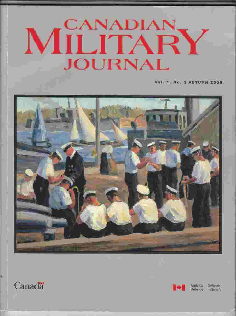 Image for Canadian Military Journal / Revue Militaire Canadienne Vol. 1, No. 3 Autumn / Automne 2000