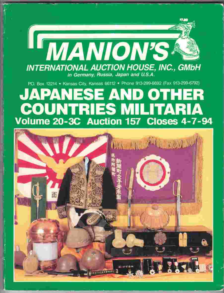 Image for Japanese and Other Countries Militaria Volume 20-3C Auction 157