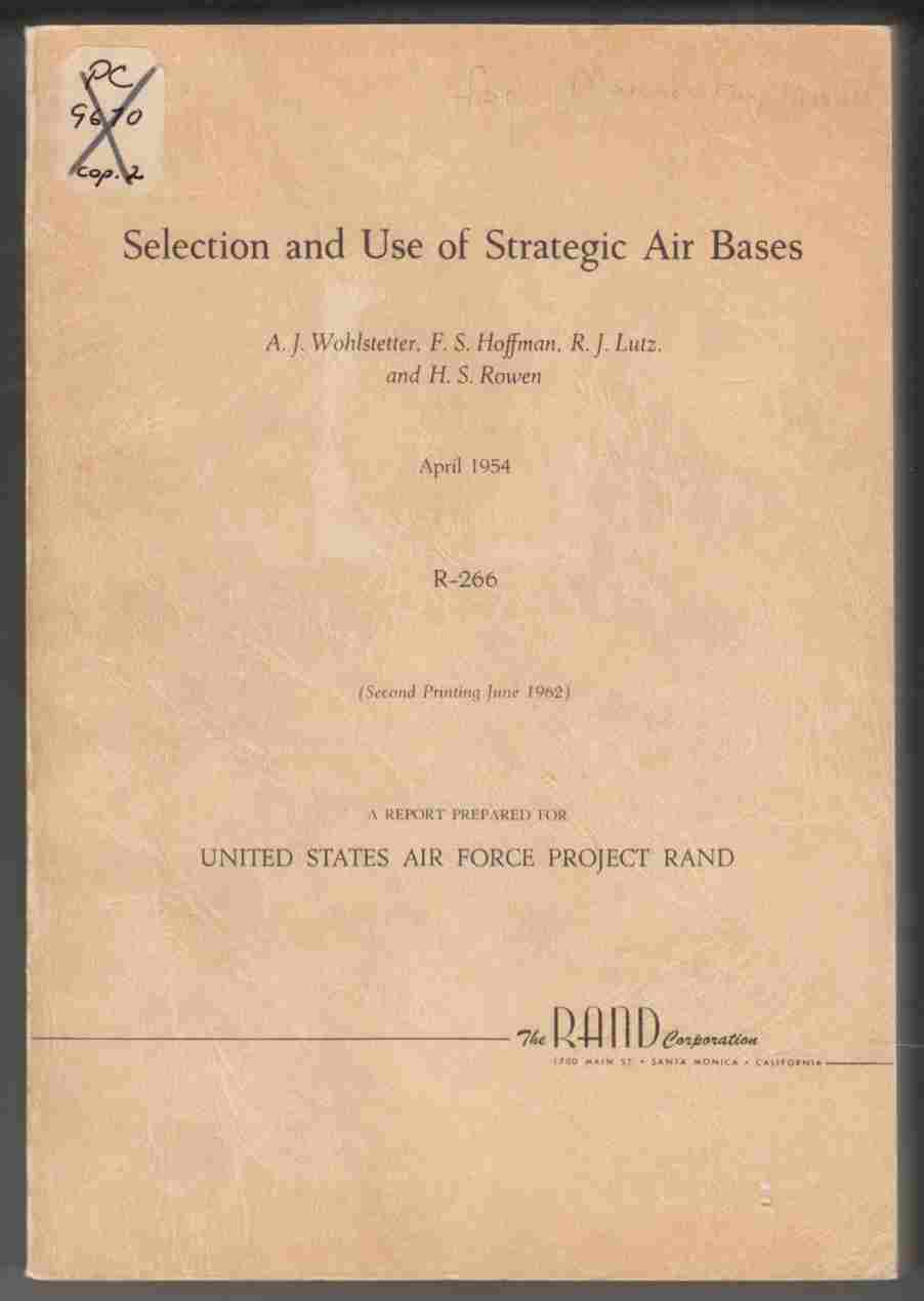 Image for Selection and Use of Strategic Air Bases