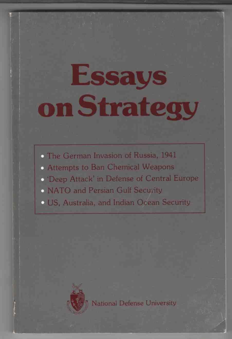 Image for Essays on Strategy