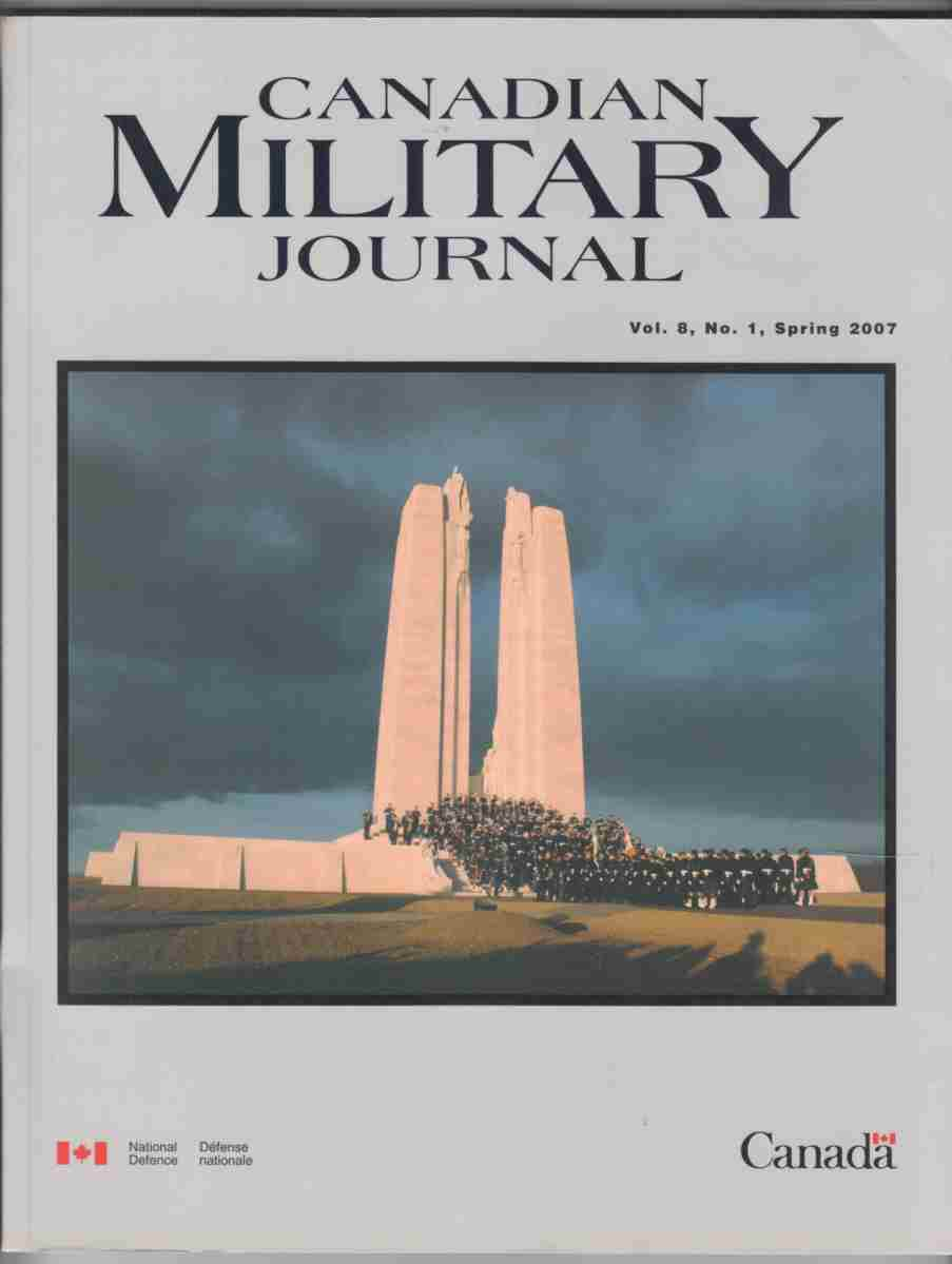 Image for Canadian Military Journal / Revue Militaire Canadienne Vol. 8, No. 1 Spring / Printemps 2007