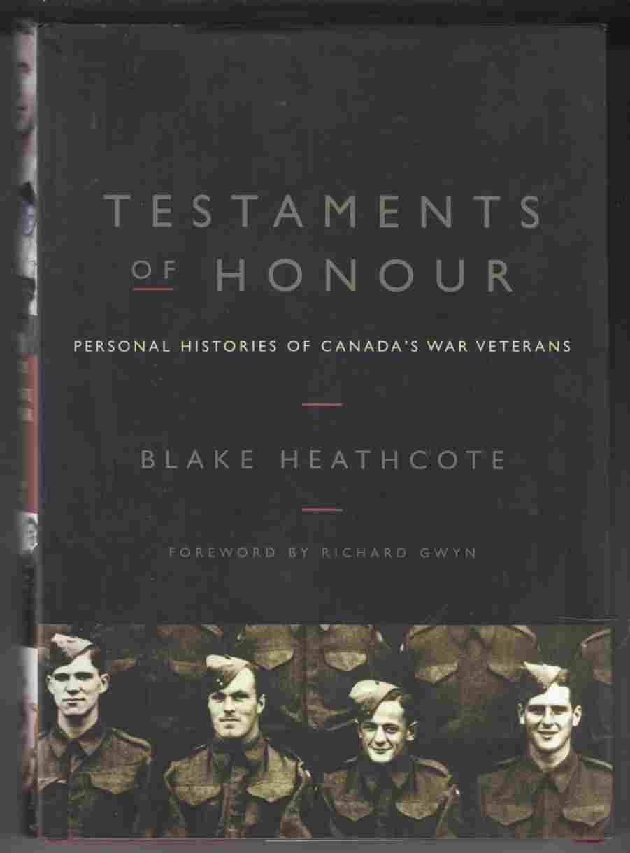 Image for Testaments of Honour Personal Histories of Canada's War Veterans