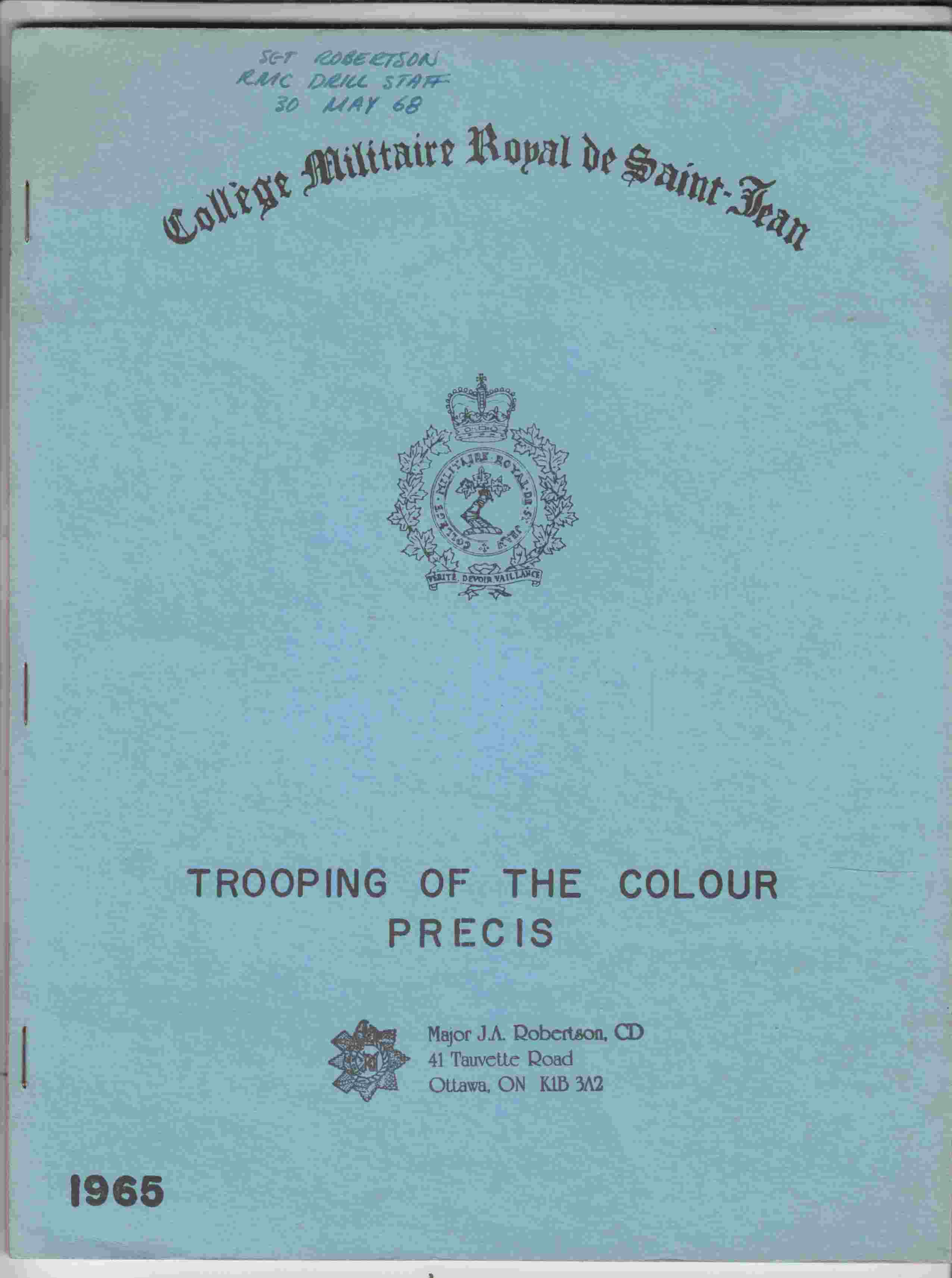 Image for Trooping of the Colour Precis