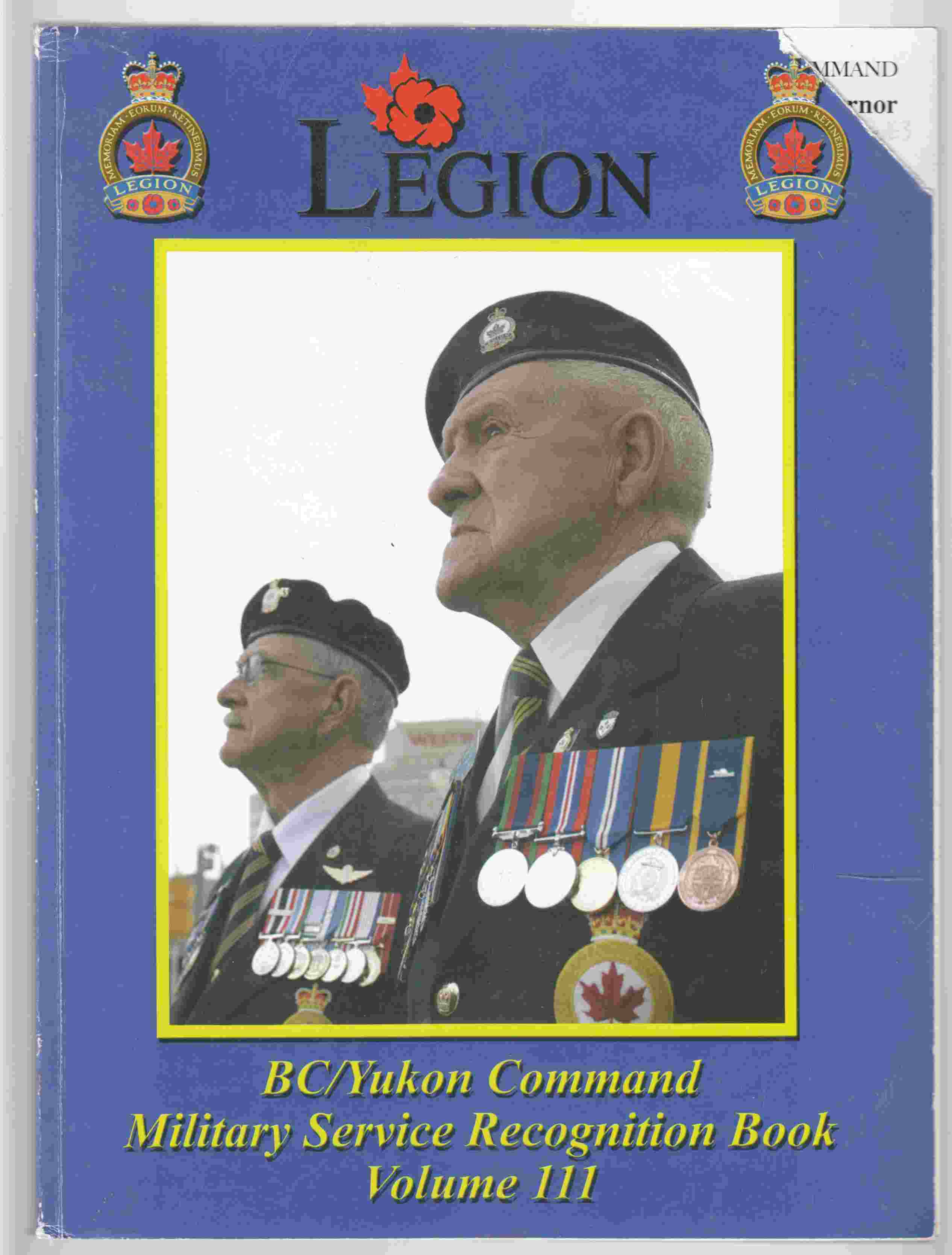 Image for BC / Yukon Command Military Service Recognition Book Volume III