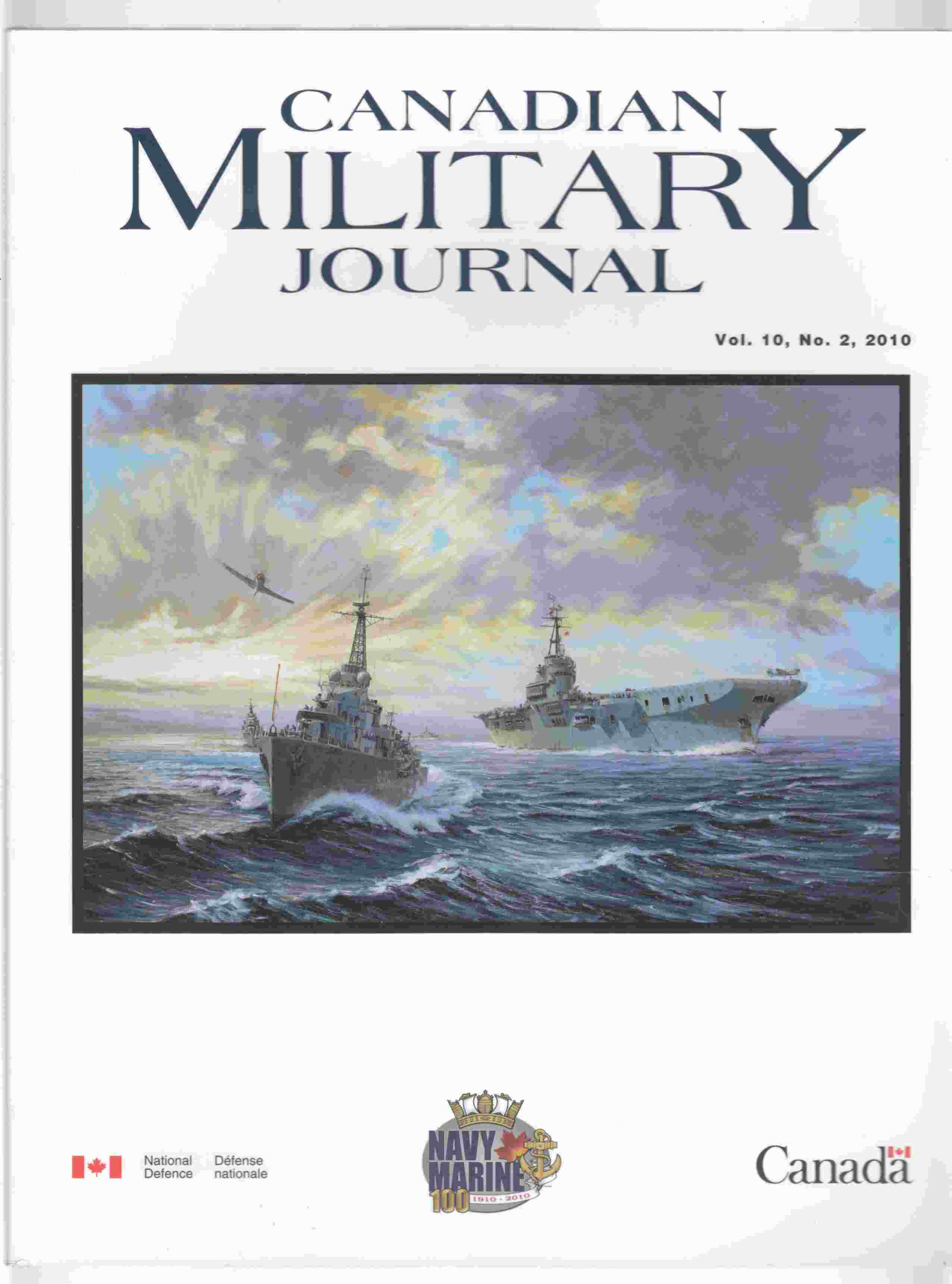 Image for Canadian Military Journal / Revue Militaire Canadienne Vol. 10, No. 2, 2010