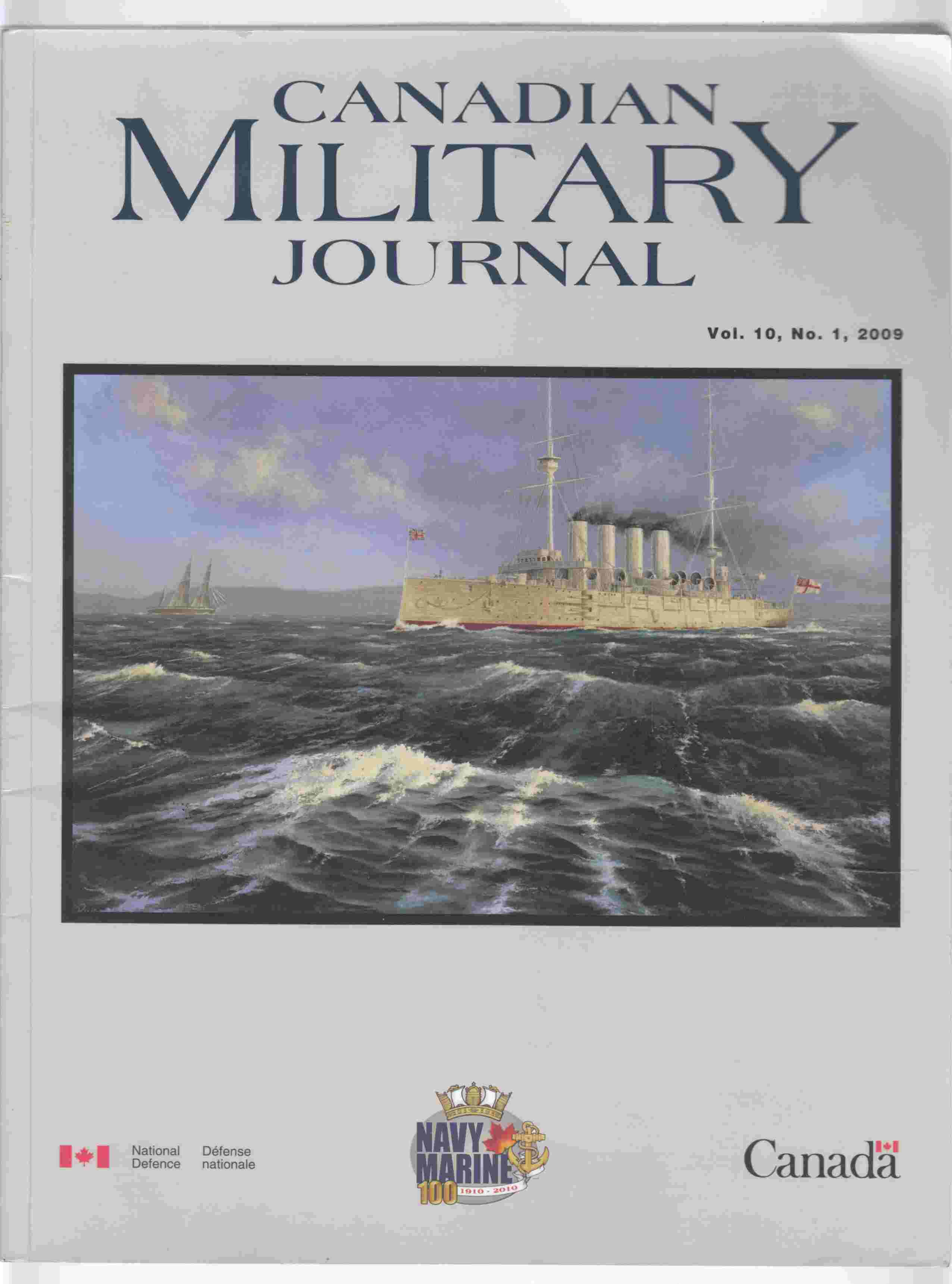 Image for Canadian Military Journal / Revue Militaire Canadienne Vol. 10, No. 1, 2009