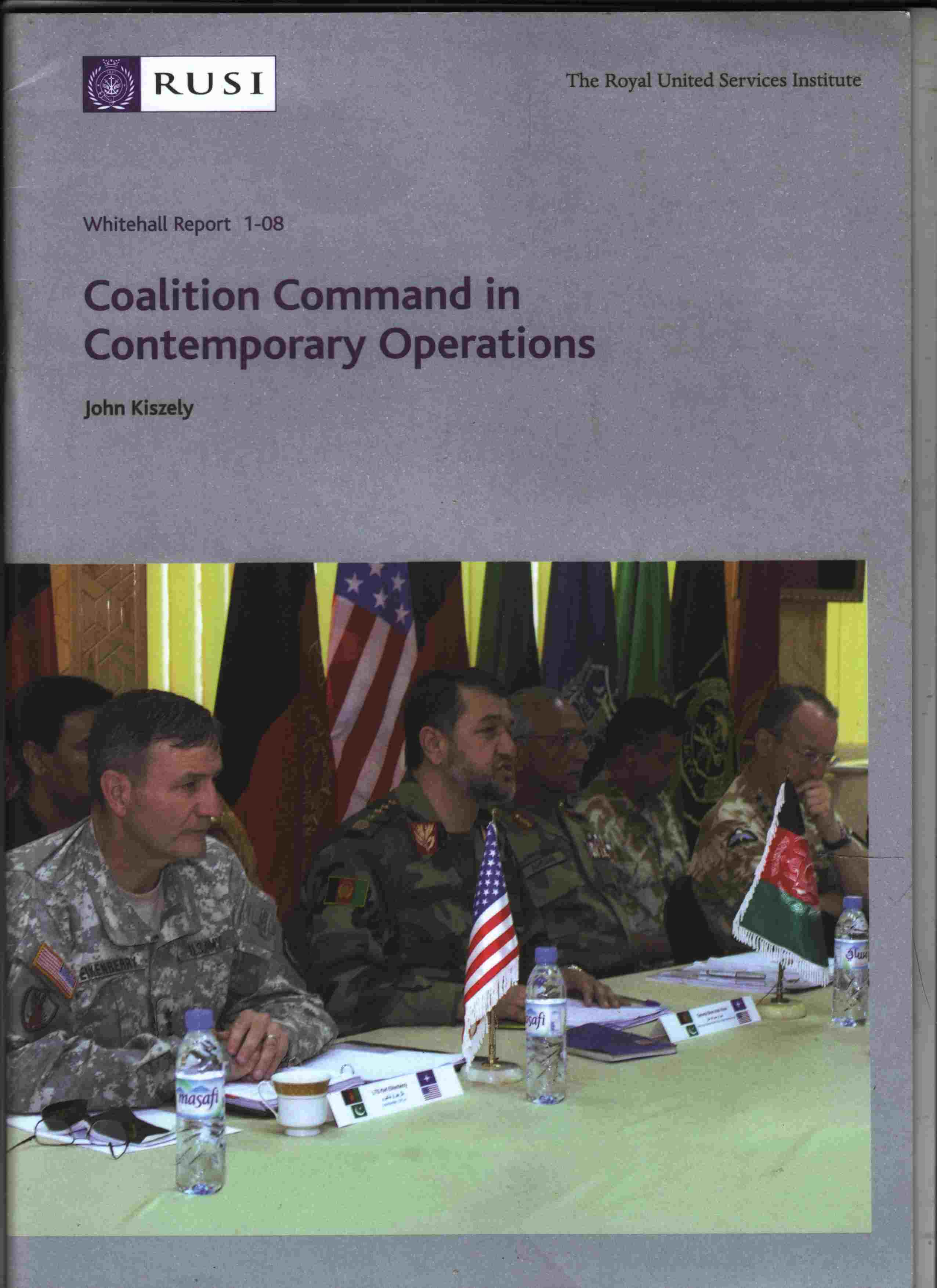 Image for Coalition Command in Contemporary Operations Whitehall Report 1-08