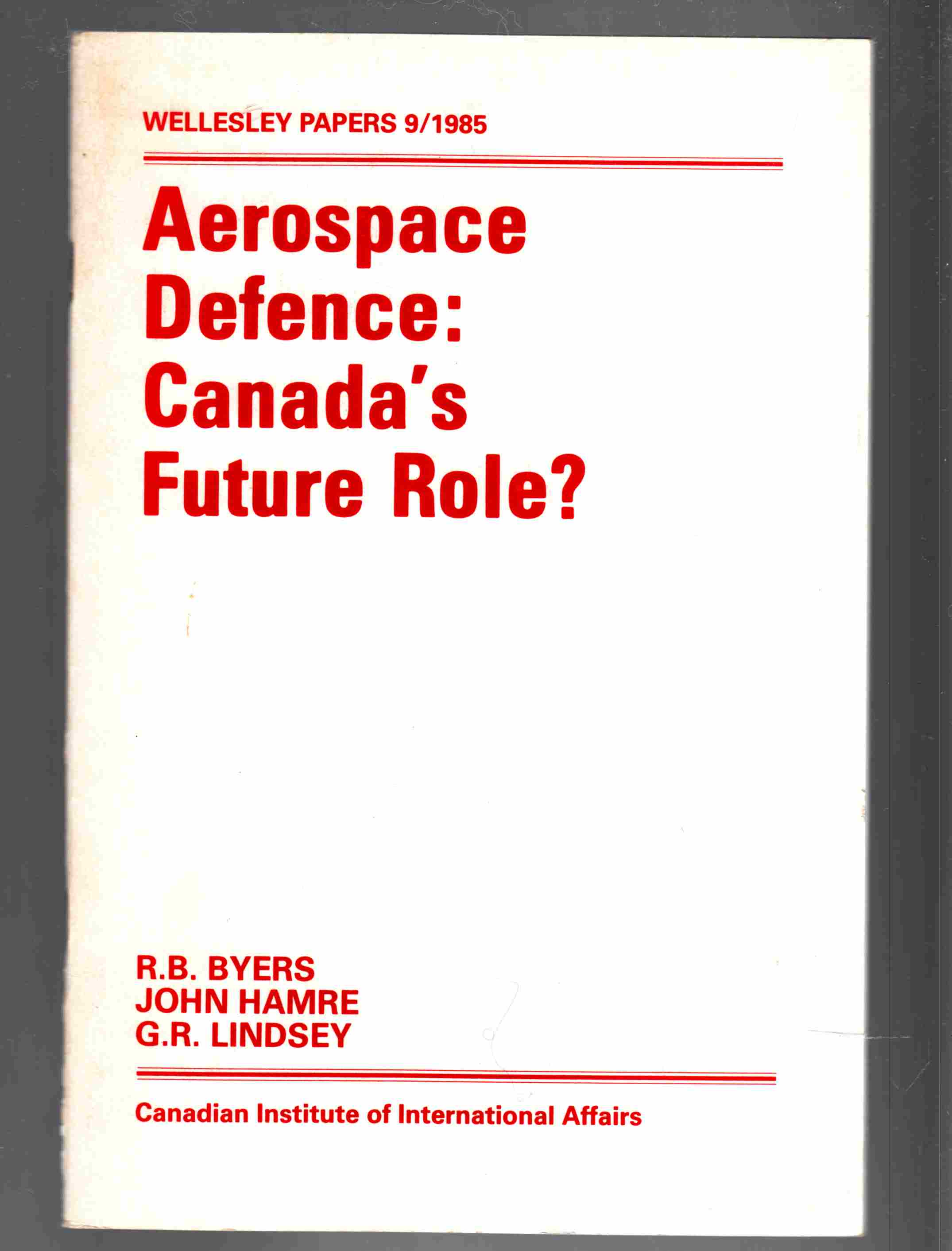 Image for Aerospace Defence: Canada's Future Role?