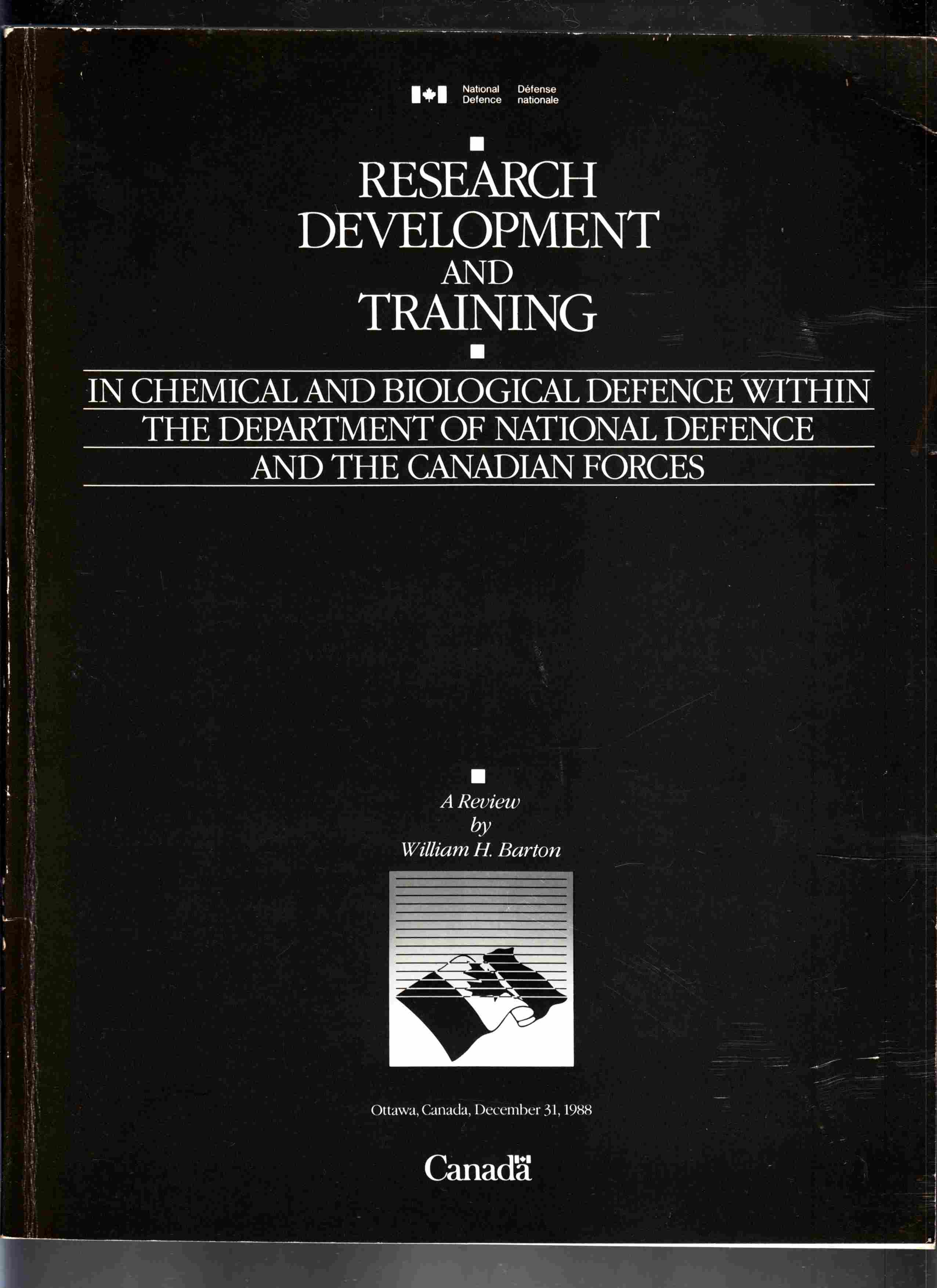 Image for Research Development and Training in Chemical and Biological Defence Within the Department of National Defence and the Canadian Forces