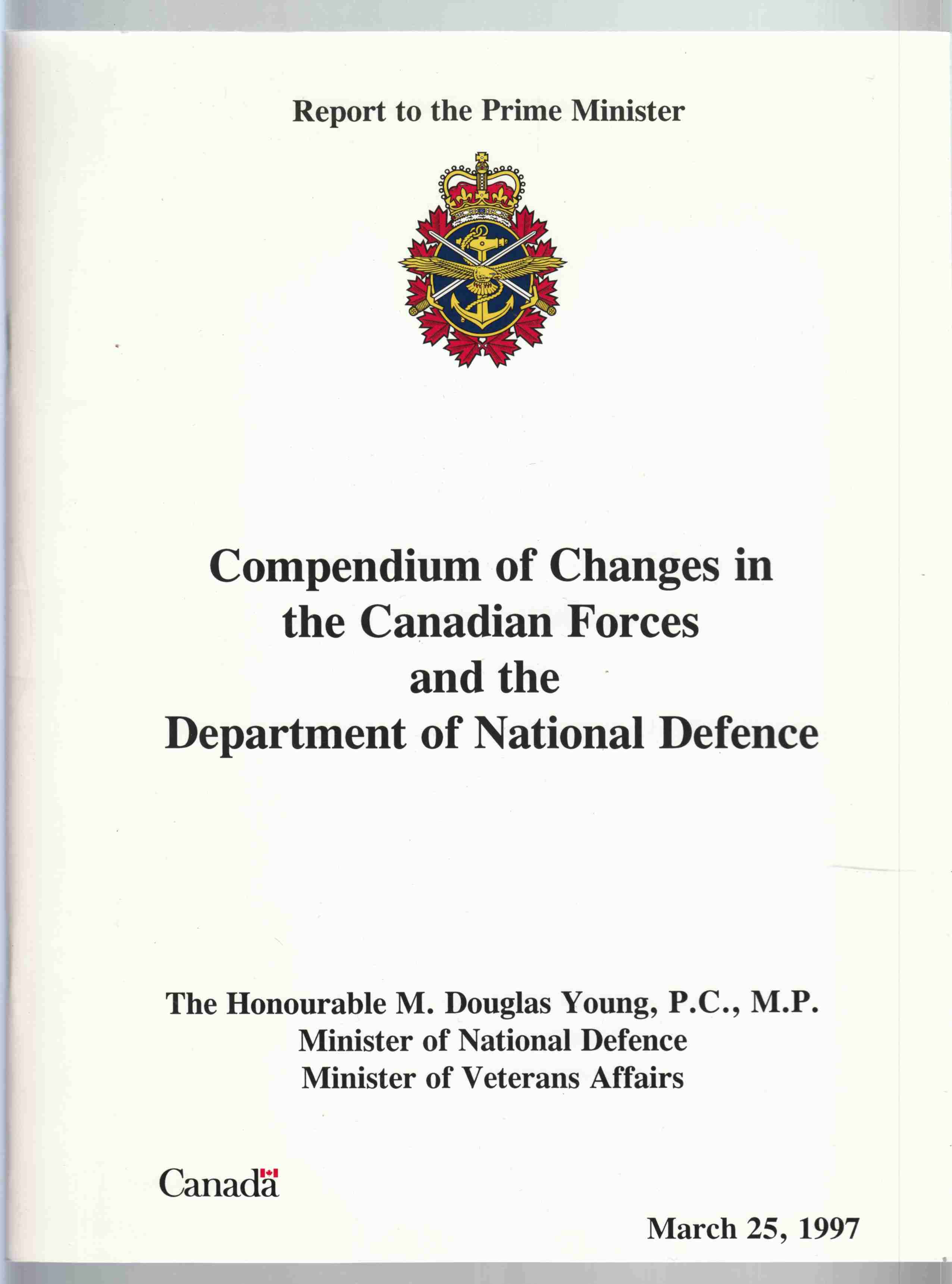 Image for Compendium of Changes in the Canadian Forces and the Department of National Defence